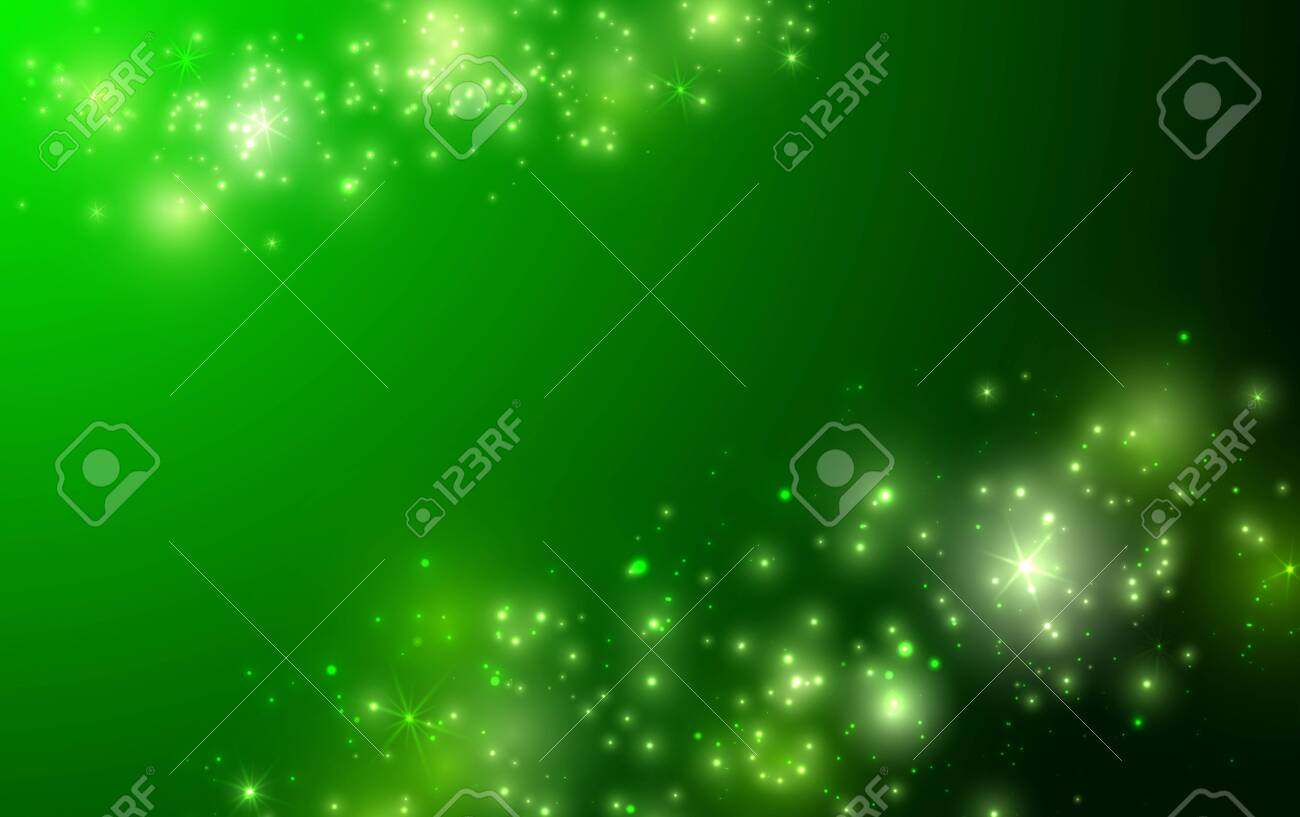 Shiny green background with sparkle and bokeh. Vector - 137968715
