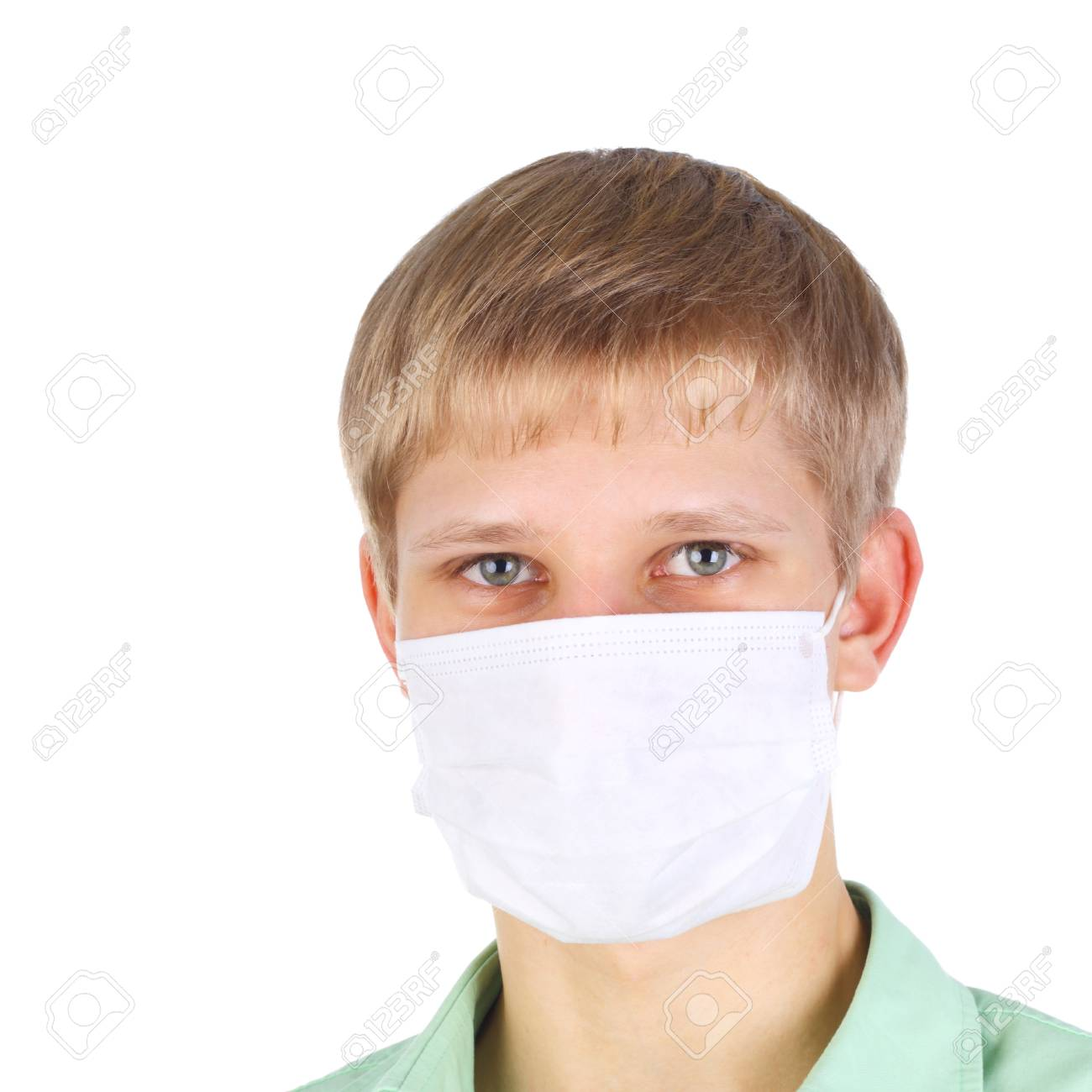 Man The In Mask Young Handsome Medical Of Image Closeup