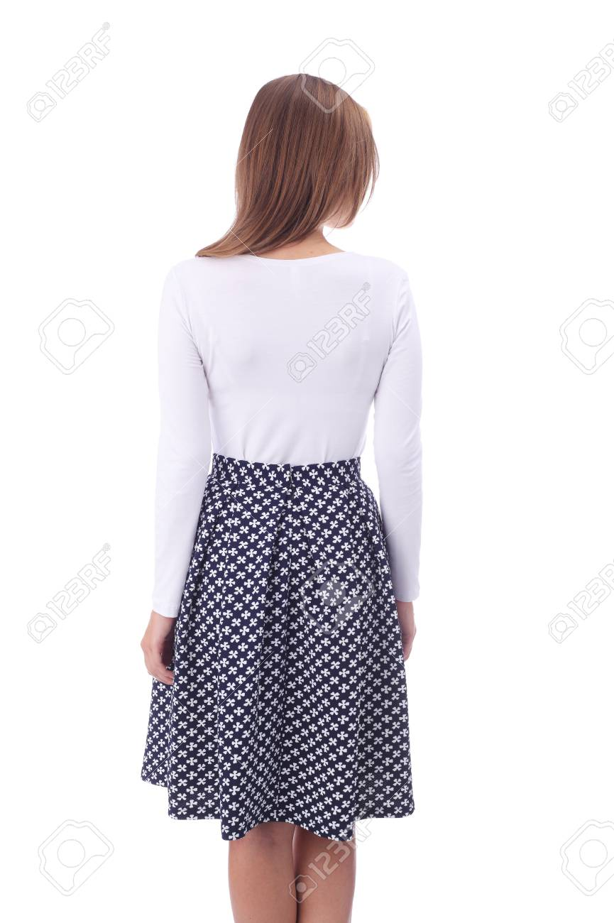 98bb8e4afa Pretty Young Girl Wearing Black And White Skirt Stock Photo, Picture ...