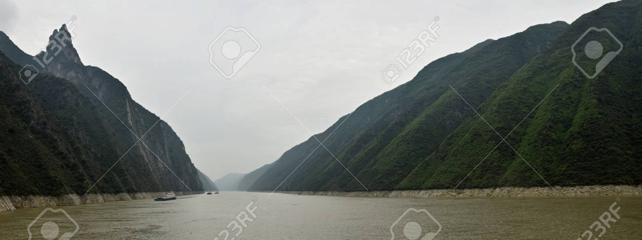 Majestic Three Gorges and Yangtze River in Hubei Province in China. - 103094103