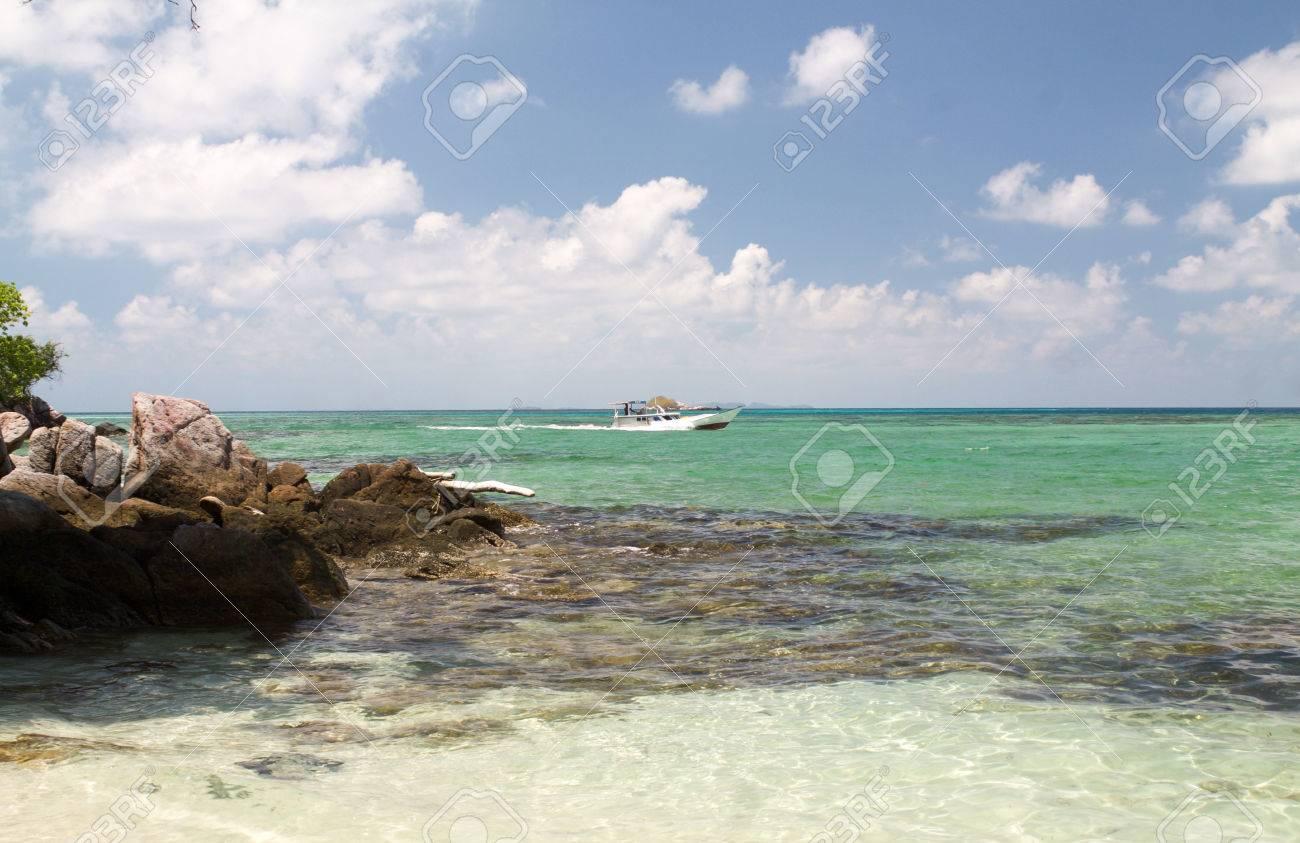 Landscape From Pancuran Beach In Karimunjawa Island Indonesia Stock