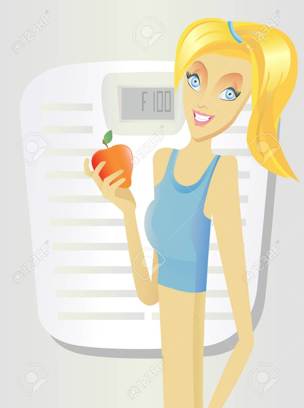 Beautiful healthy fitness girl Stock Vector - 9087388