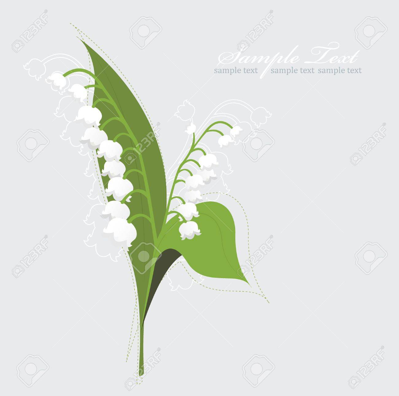 Lily Of The Valley background Stock Vector - 9087403