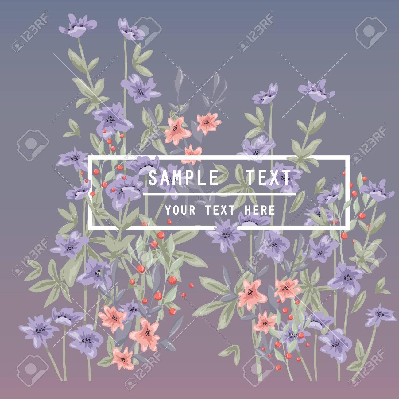 Arte De La Pared De Primavera Para Imprimir Con Estampado De Flores Y La Tipografía Modelo Del Vector Con Las Flores Para La Invitación Carteles
