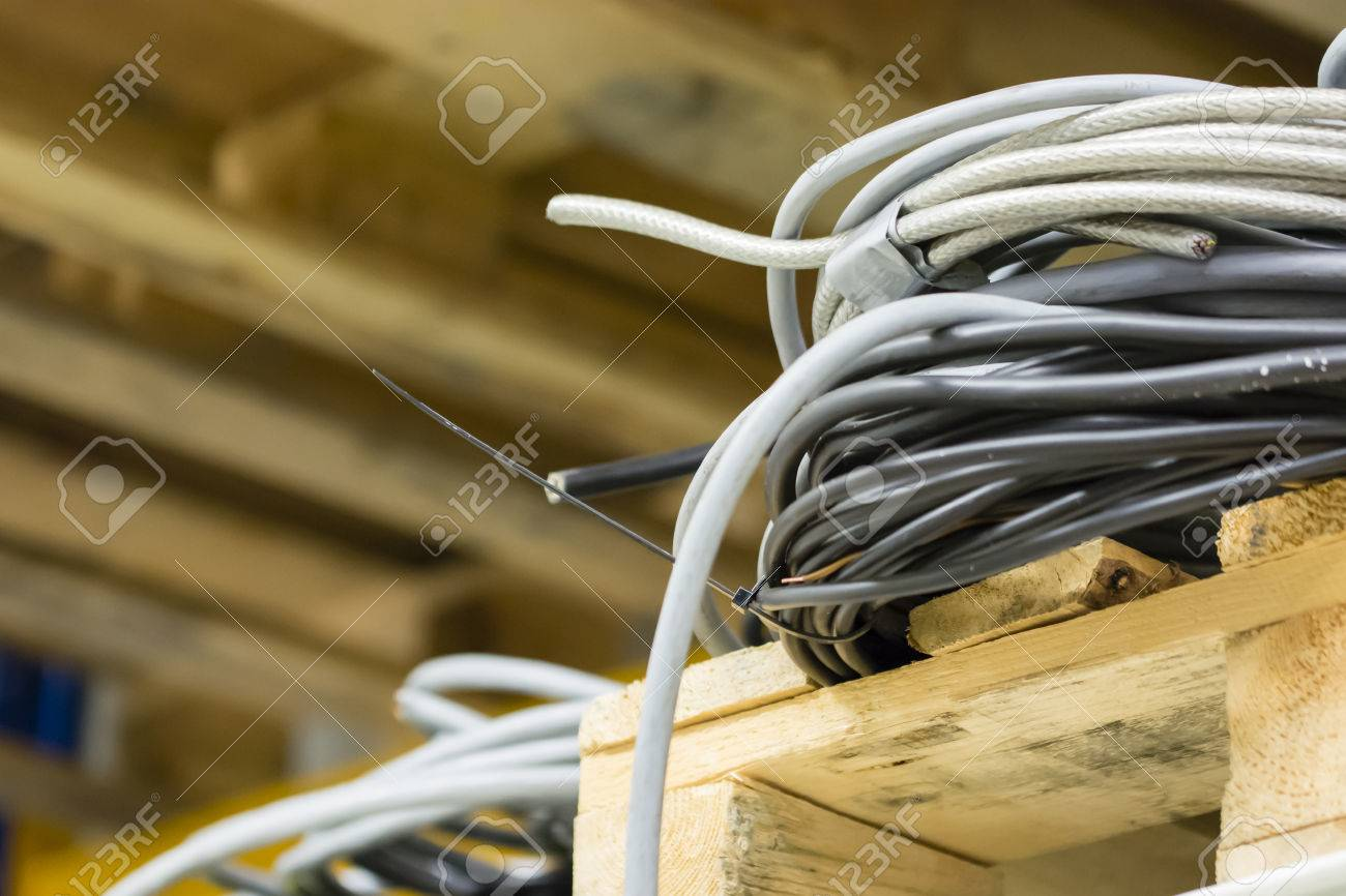Cable Tie-in Rack And Pulling Strap. Stock Photo, Picture And ...