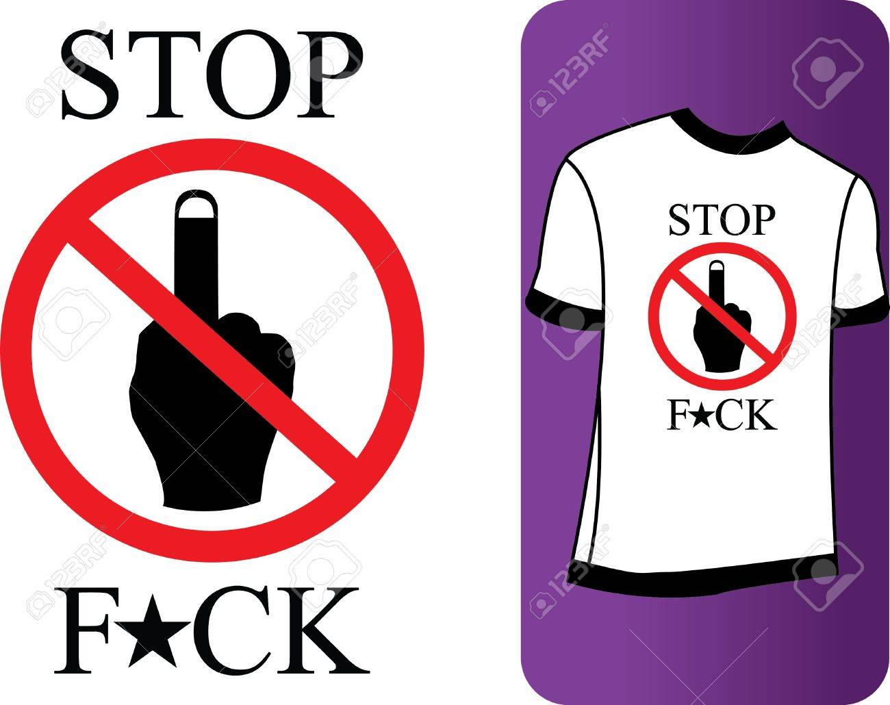 The ban on showing his middle finger Stock Vector - 17318222