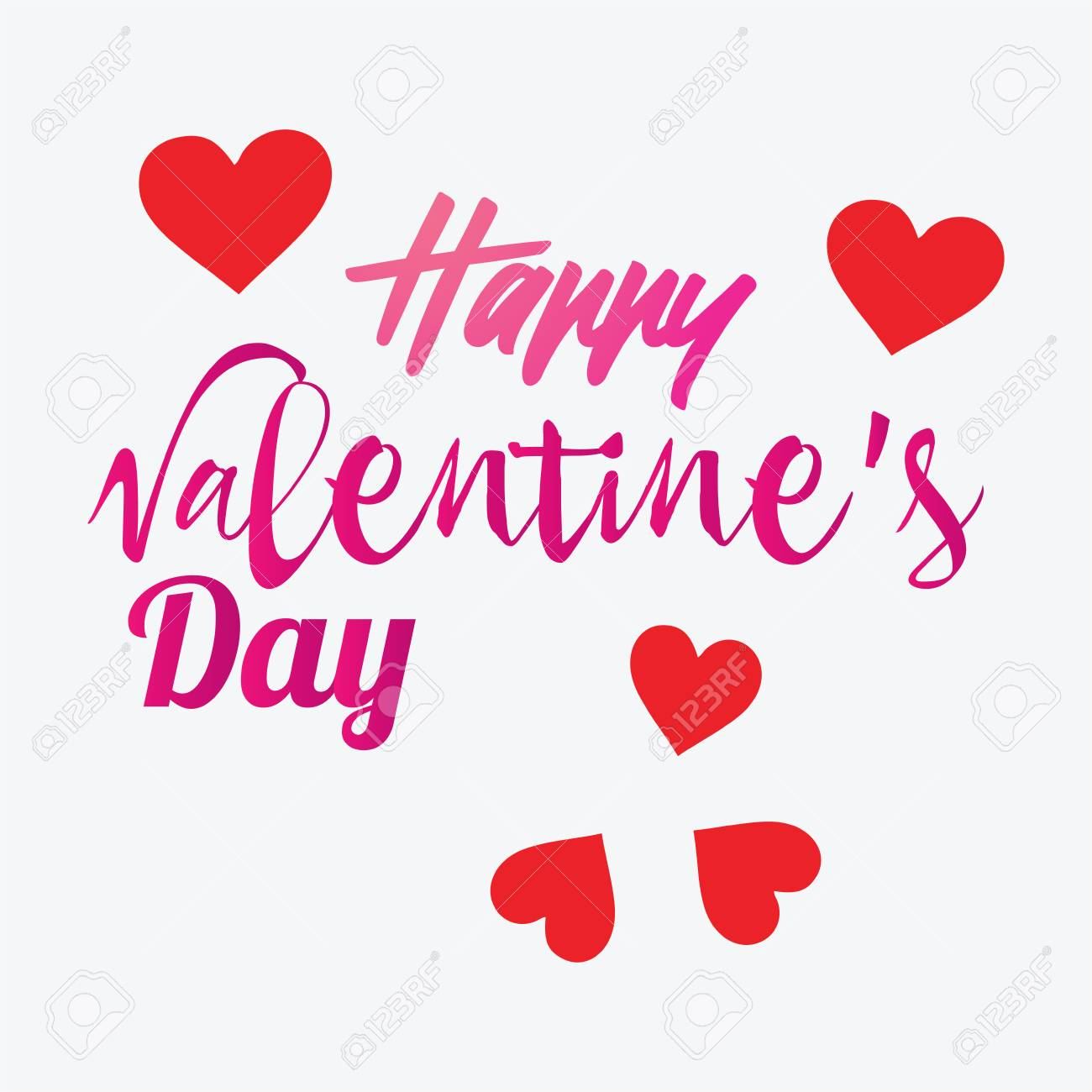 lettering happy valentines day banner valentines day greeting
