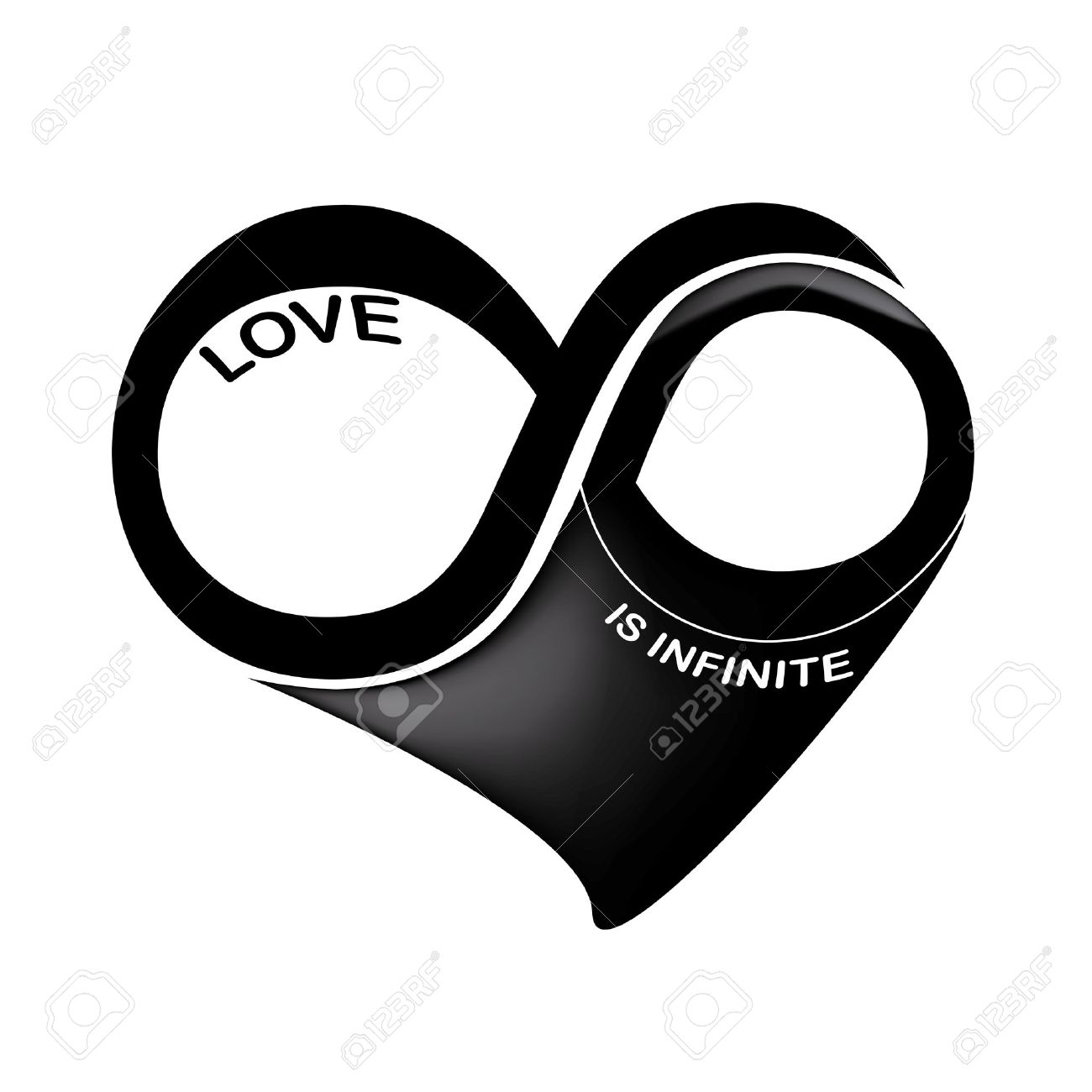 A black and white infinity symbol in a heart shape in a white a black and white infinity symbol in a heart shape in a white background stock vector buycottarizona Gallery