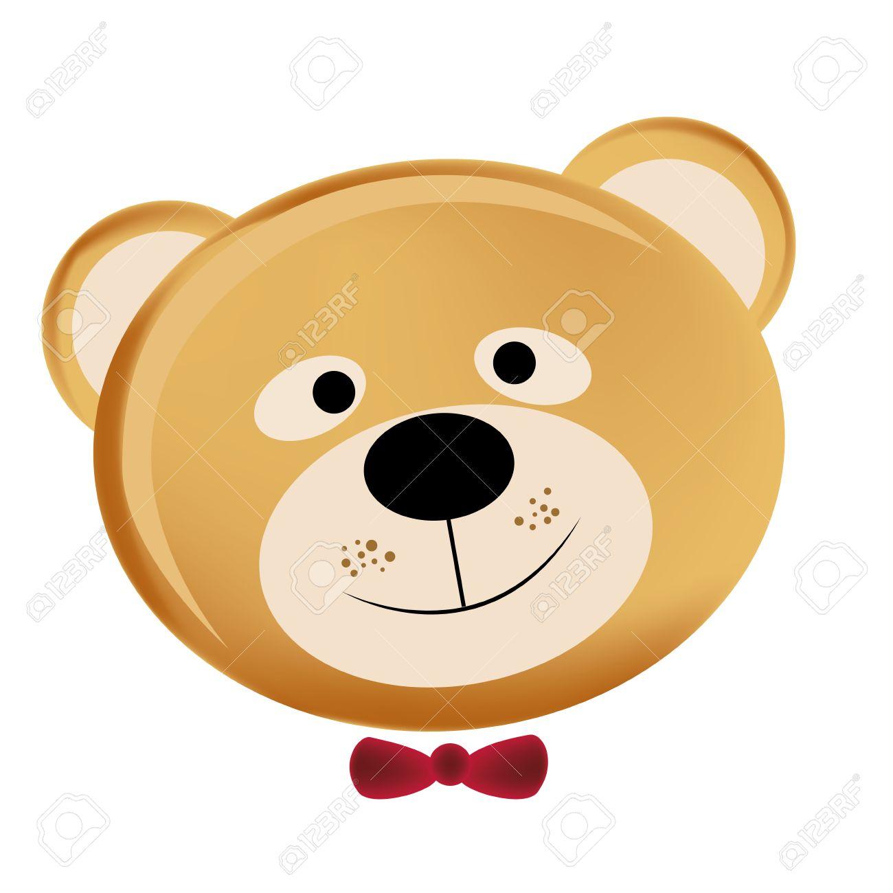 Teddy Bear Face Clip Art