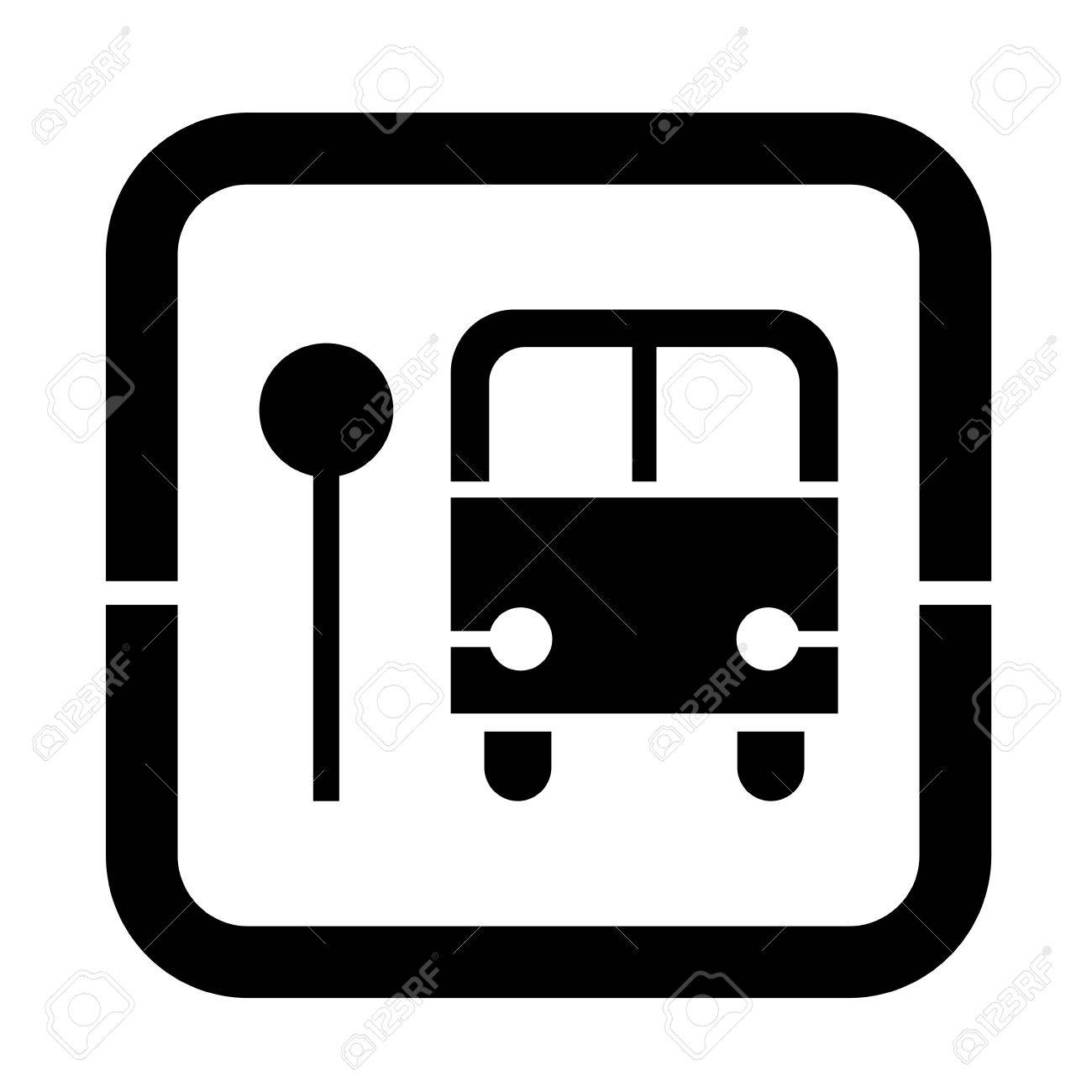 a black and white signal of a bus stop royalty free cliparts rh 123rf com bus stop sign clip art bus stand clipart