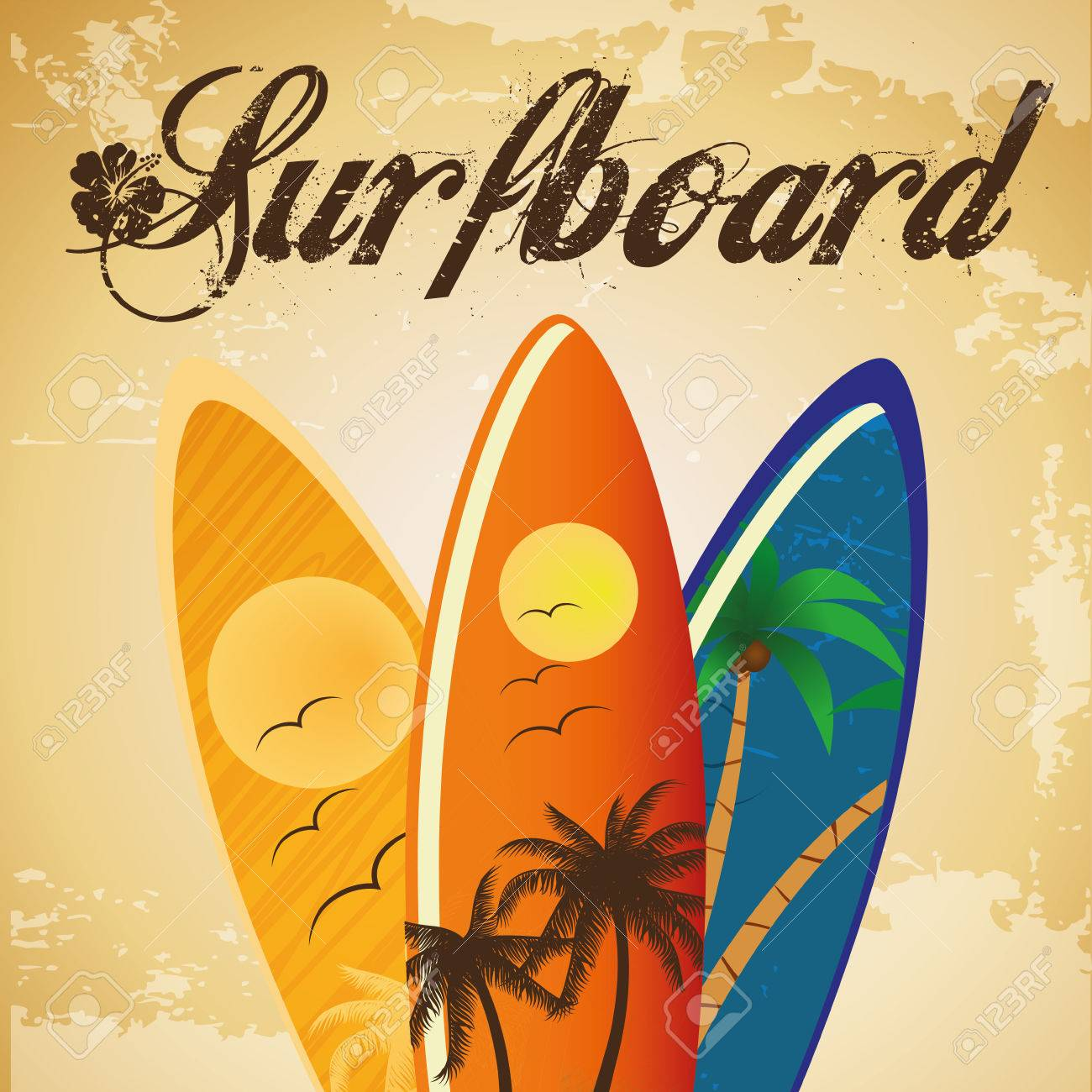 three surfboards with different colors and textures - 24502673