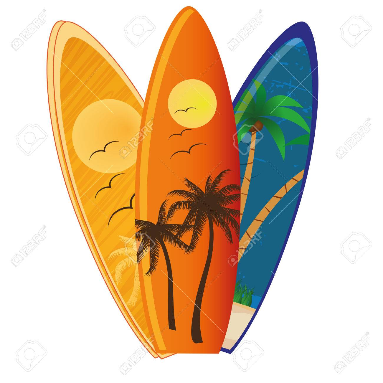 three different surfboards with different textures and colors - 24502680