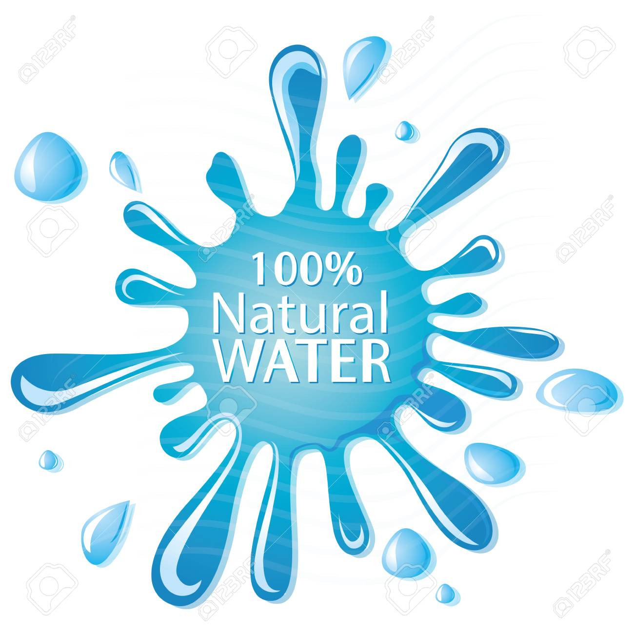 some white text and drops of mineral water - 26707845