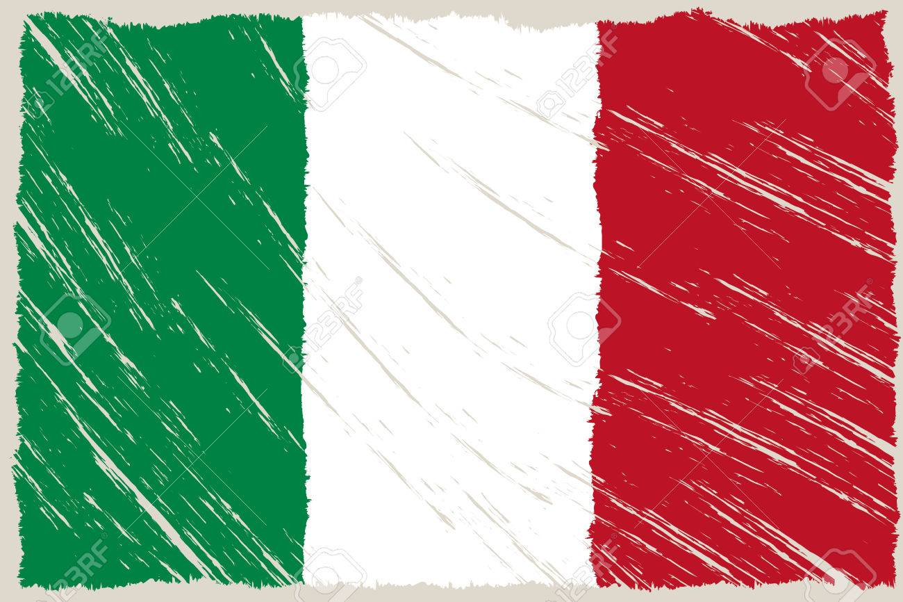 the italian flag with some grunge textures - 29508507
