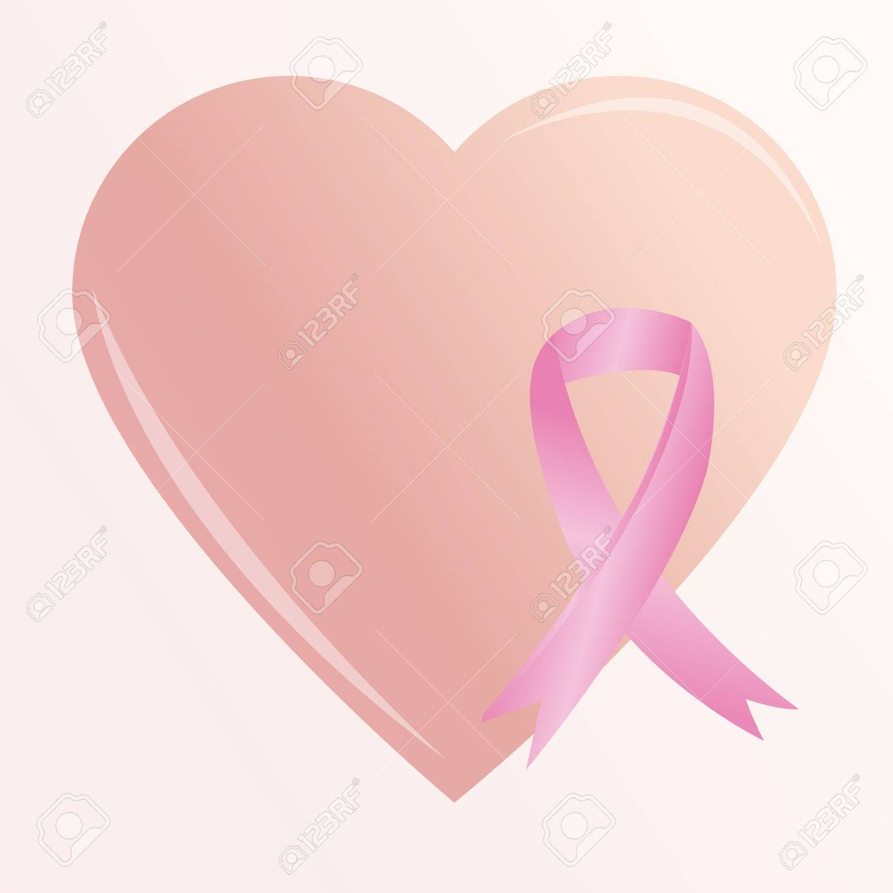 A big heart and a breast cancer prevention symbol royalty free a big heart and a breast cancer prevention symbol stock vector 33779216 buycottarizona Image collections