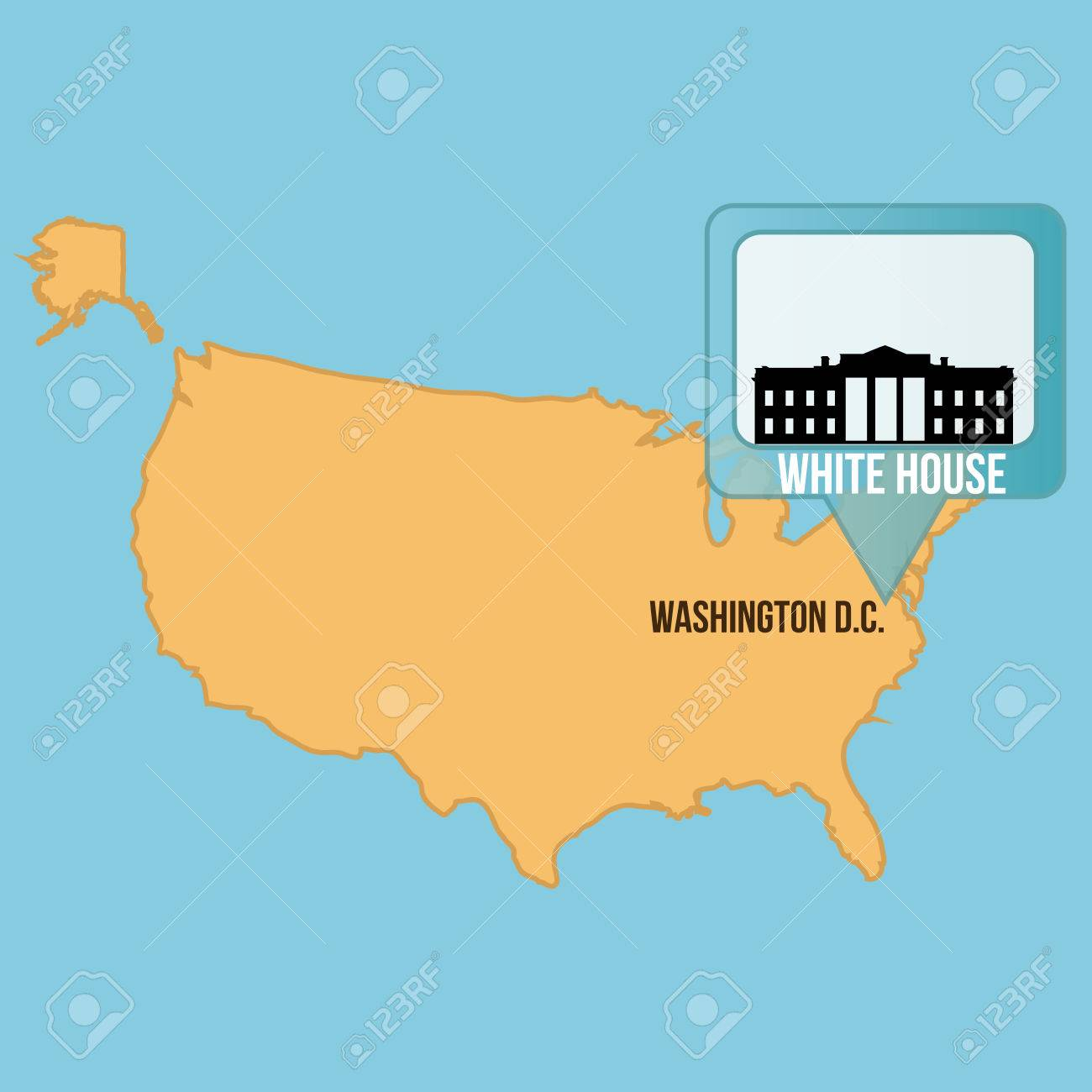 White House United States USA Map Nonanet English Exercises - White house on us map
