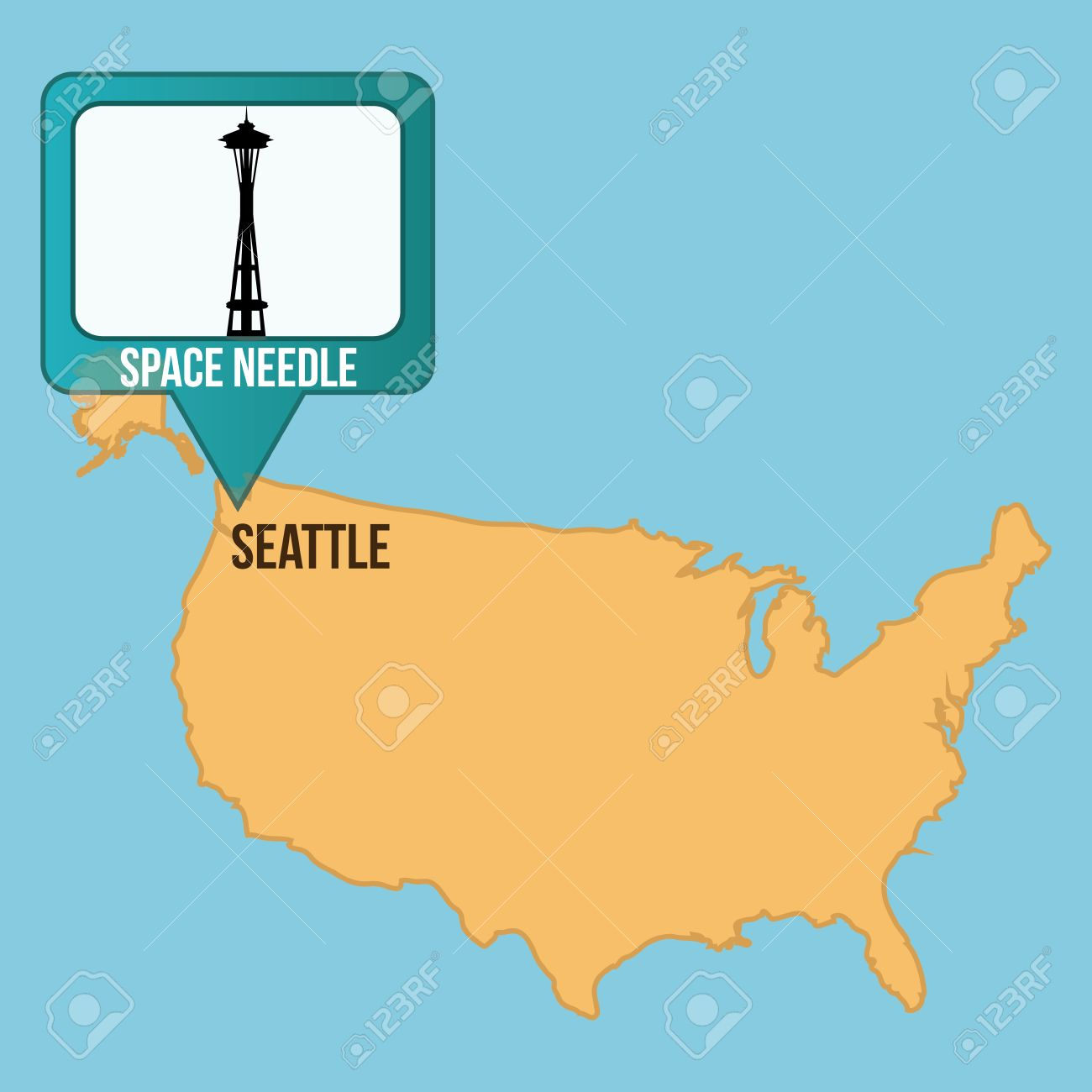 US Department Of Labor Office Of Workers Compensation SEATTLE - Map of us vector