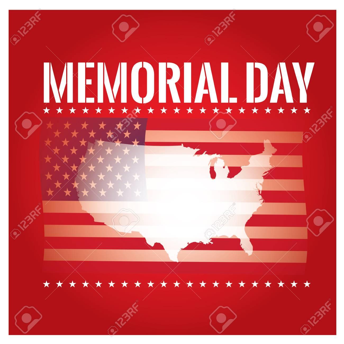 Fondo De Color Con Texto, La Bandera Americana Y El Mapa Para El Día ...