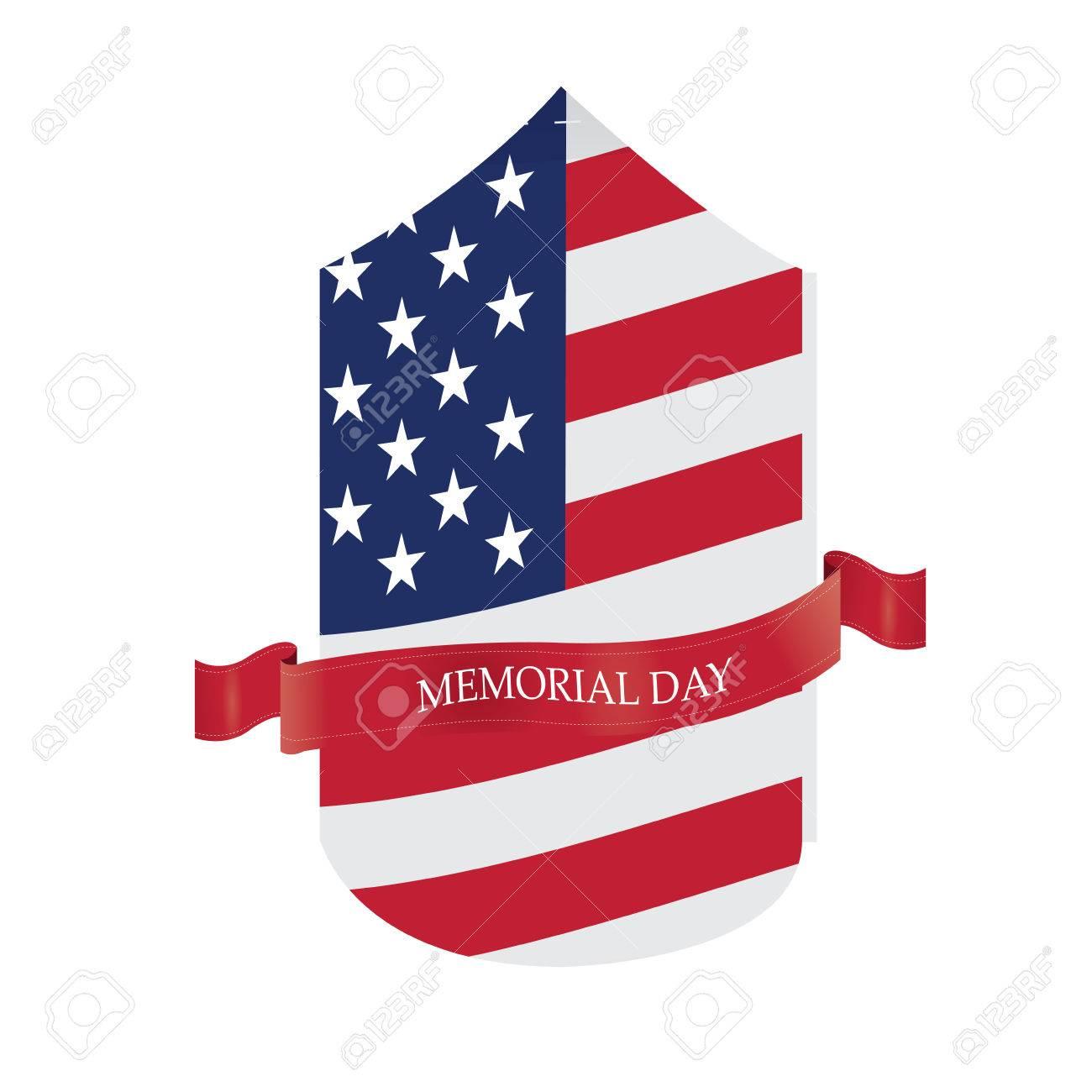 Medalla Aislada Con La Bandera Americana Y Una Cinta Con El Texto ...