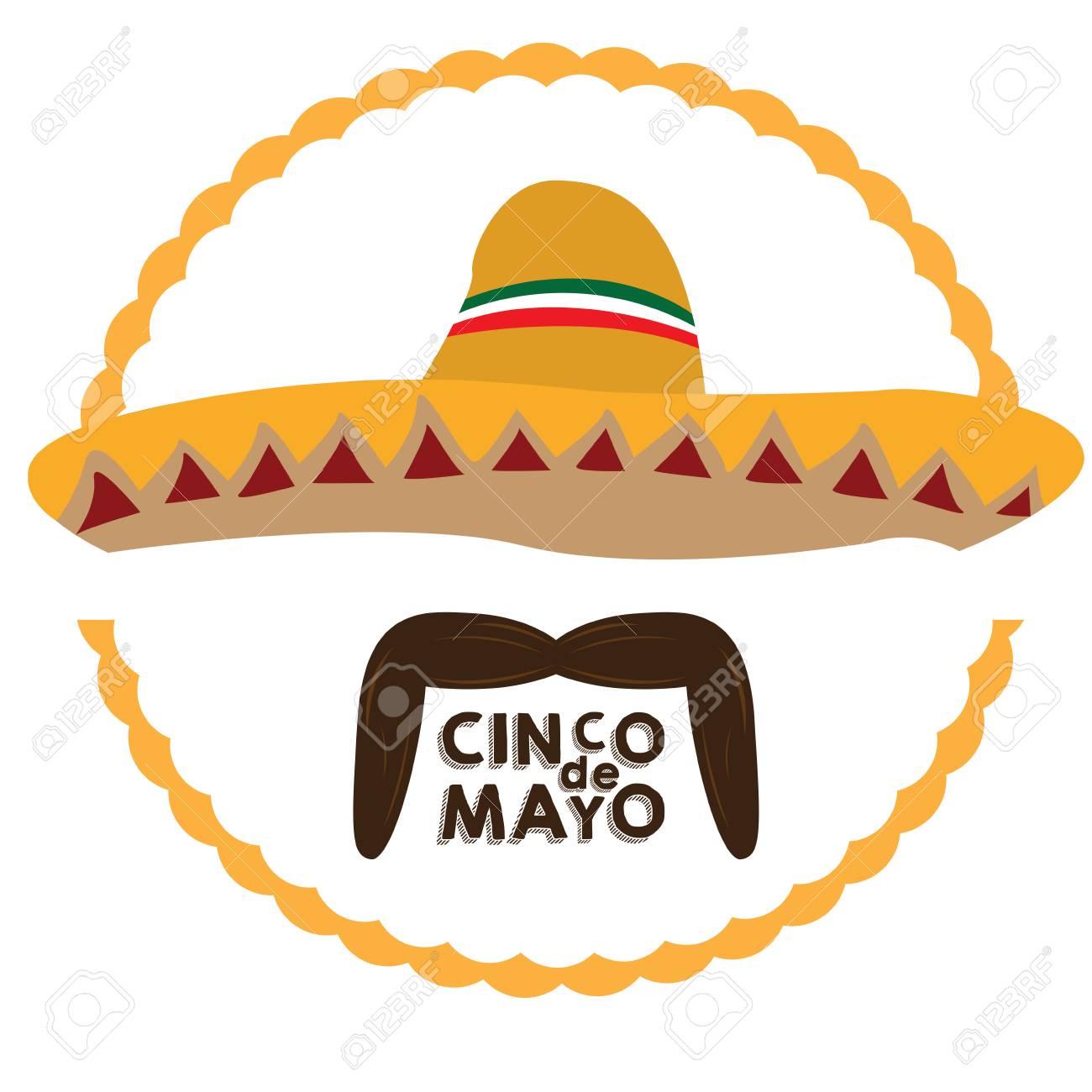 Foto de archivo - Sombrero mexicano aislado y un bigote 38450ac5b5a