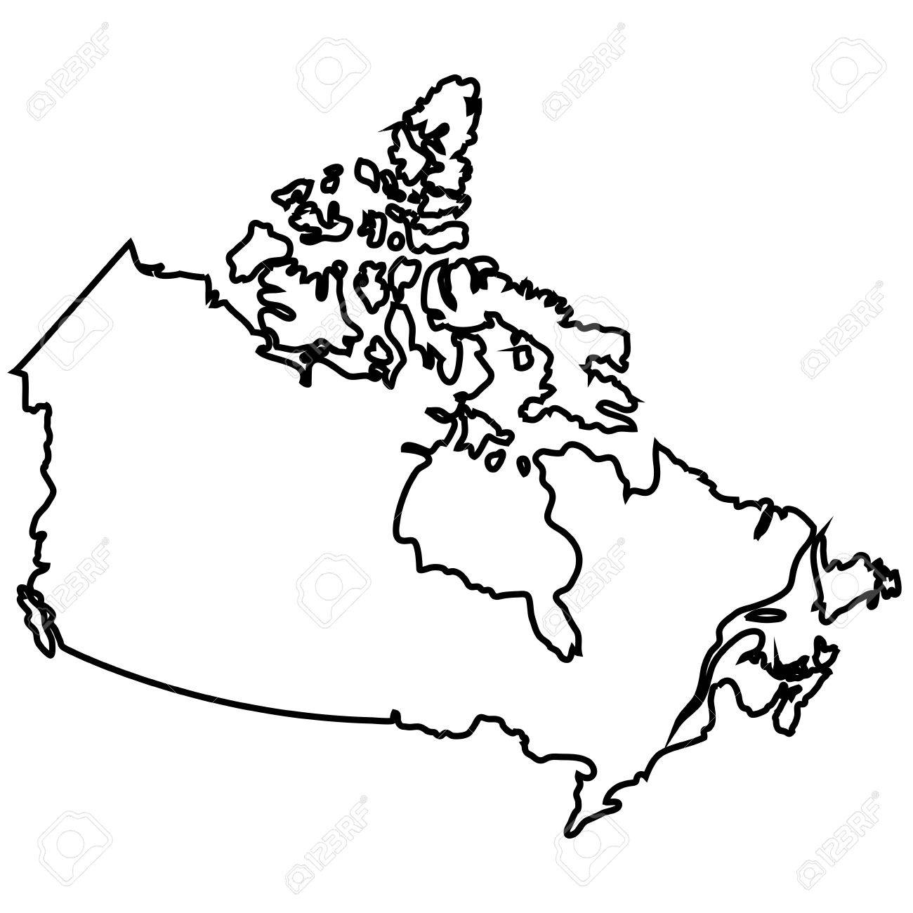 Isolated Canadian Map On A White Background Vector Illustration