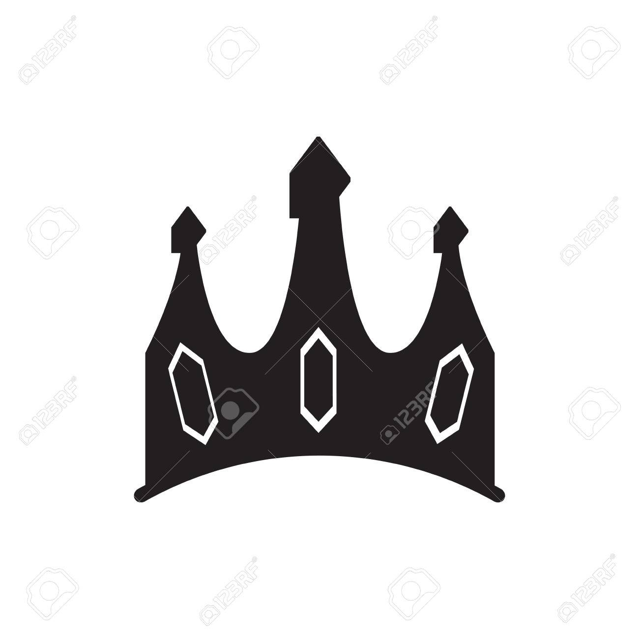 isolated silhouette of a crown vector illustration royalty free rh 123rf com crown vector file crown vector free download