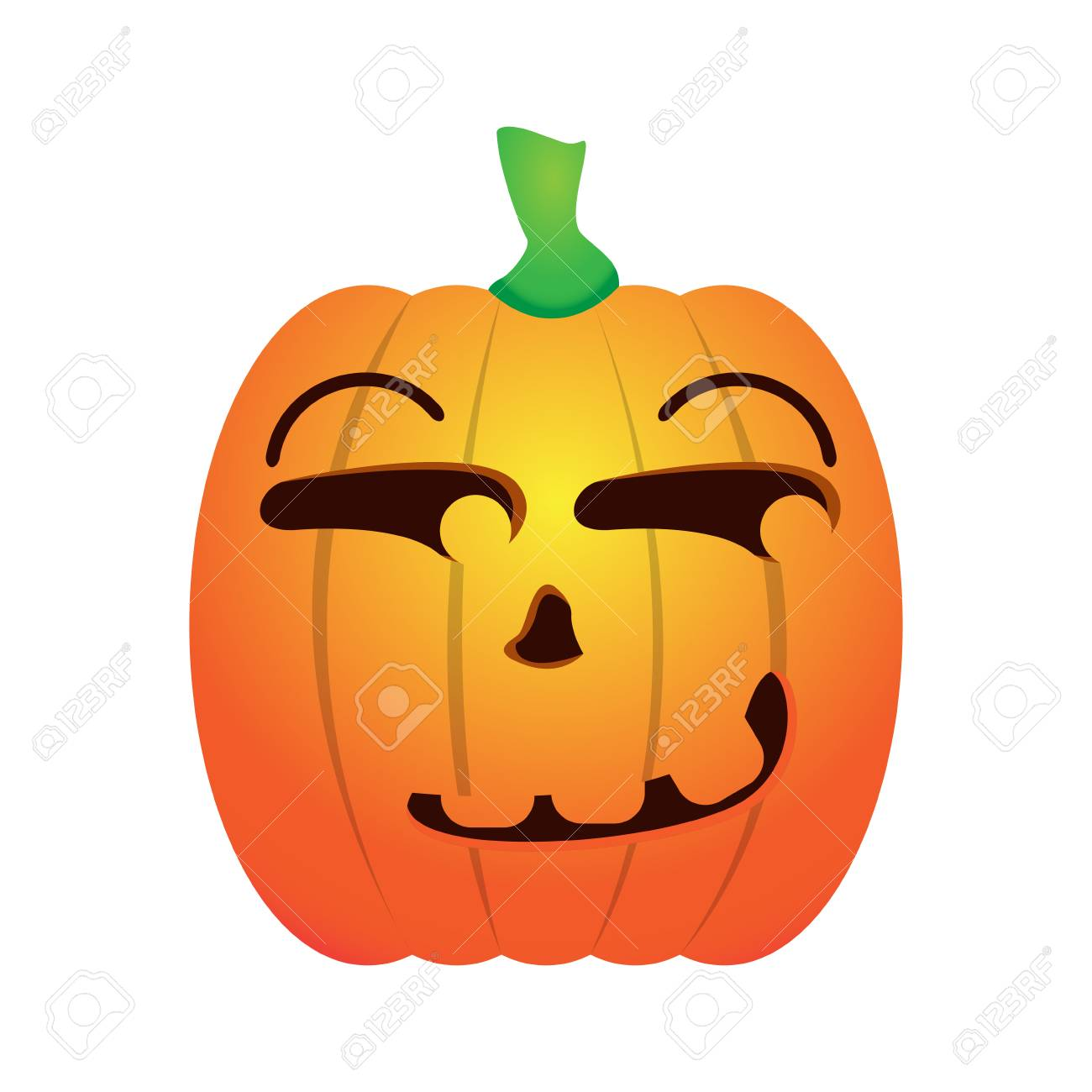 Isolated Happy Jack O Lantern On A White Background Vector