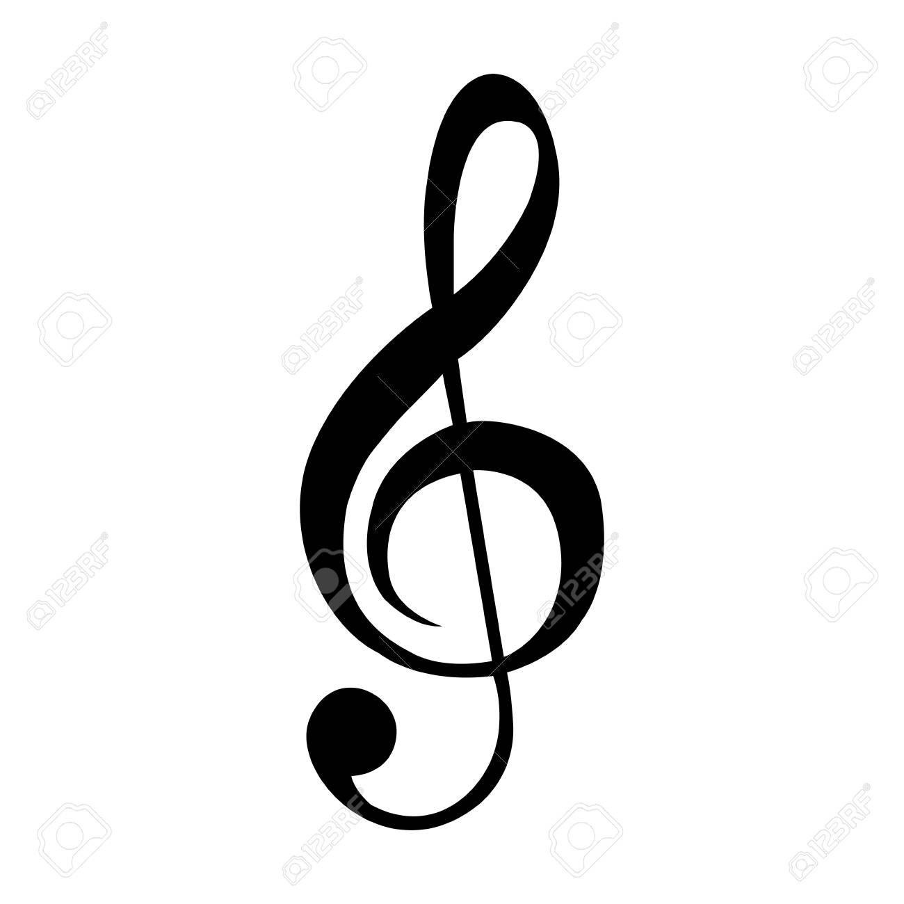 isolated musical note silhouette on a white background, vector.. royalty  free cliparts, vectors, and stock illustration. image 86222496.  123rf
