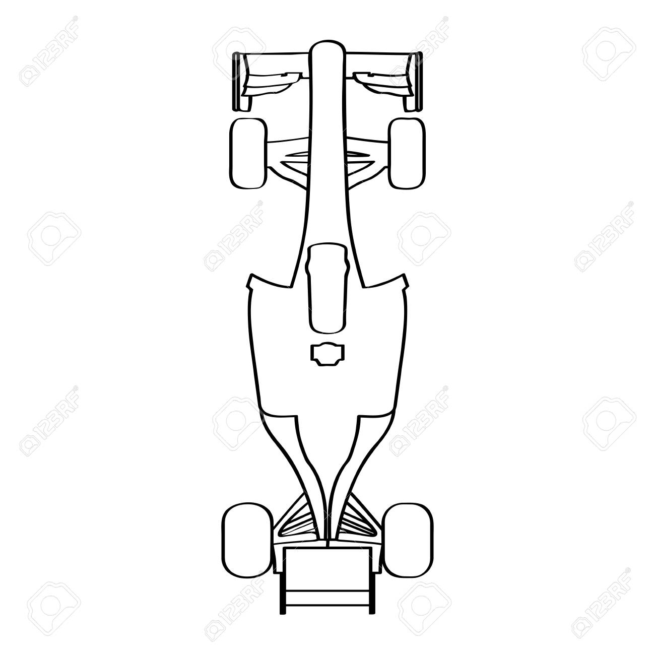 top view of a racing car outline vector illustration royalty free Concept Cars Top View top view of a racing car outline vector illustration stock vector 86998941