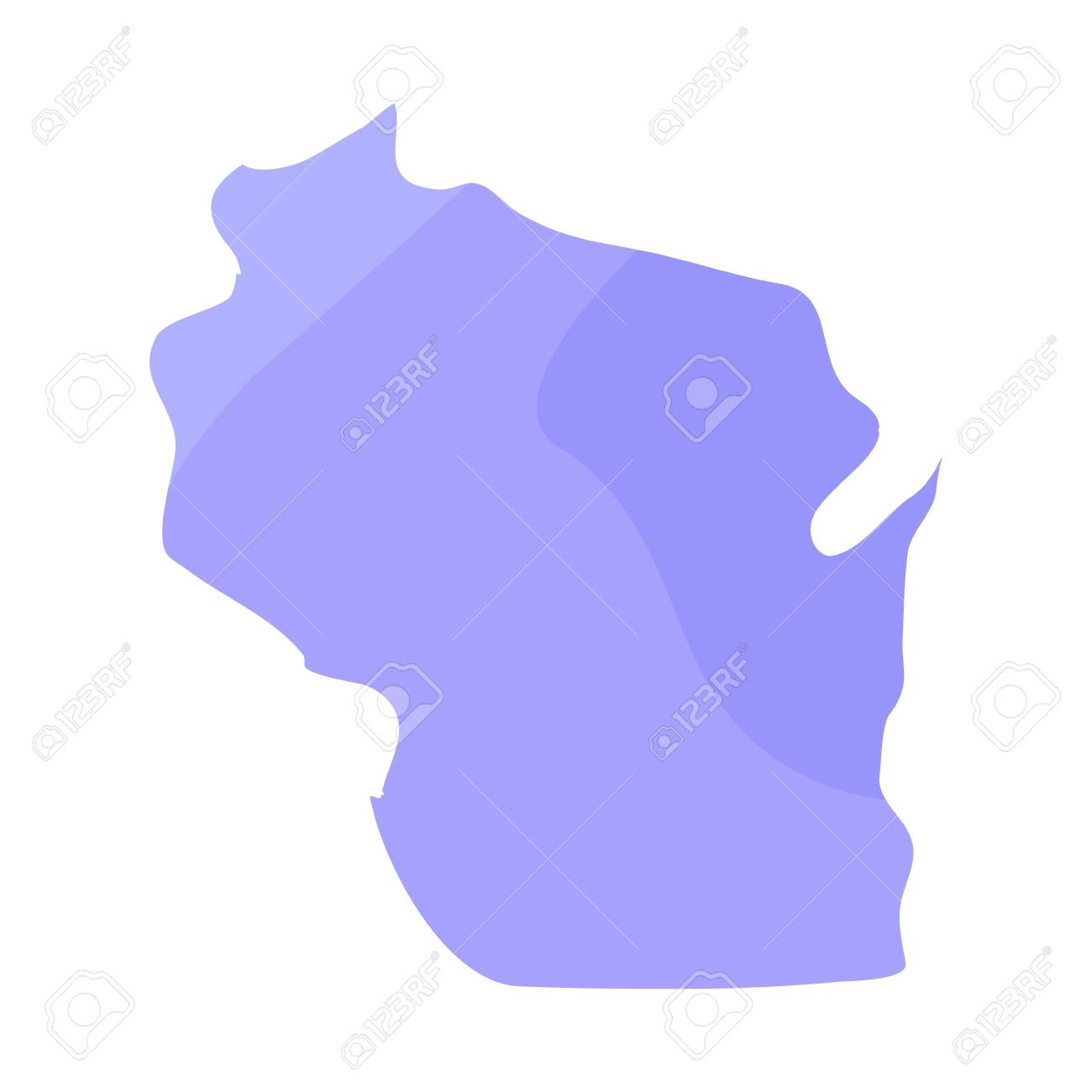 Political Map Of The State Of Wisconsin Vector Illustration Royalty