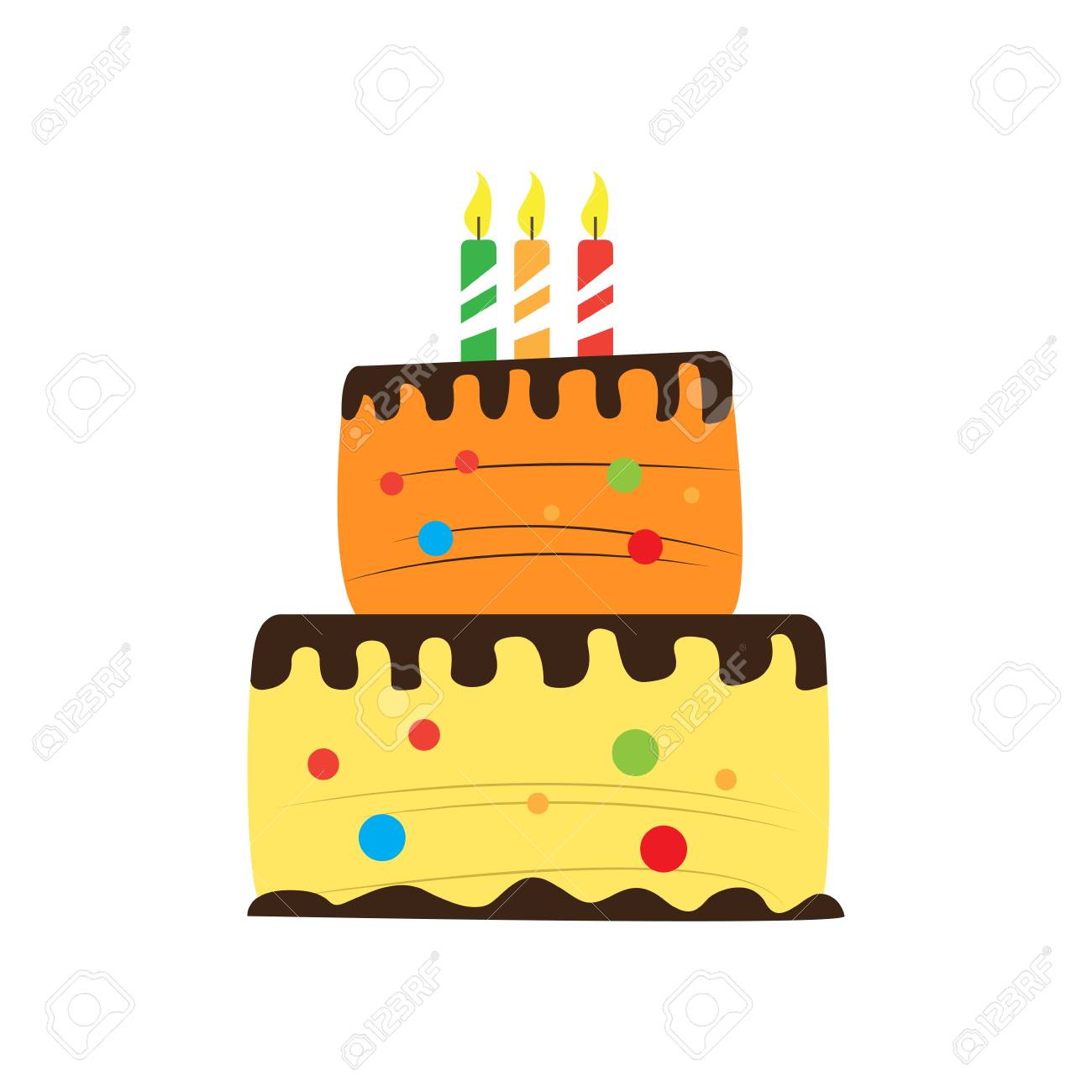 Birthday Cake Icon Royalty Free Cliparts Vectors And Stock