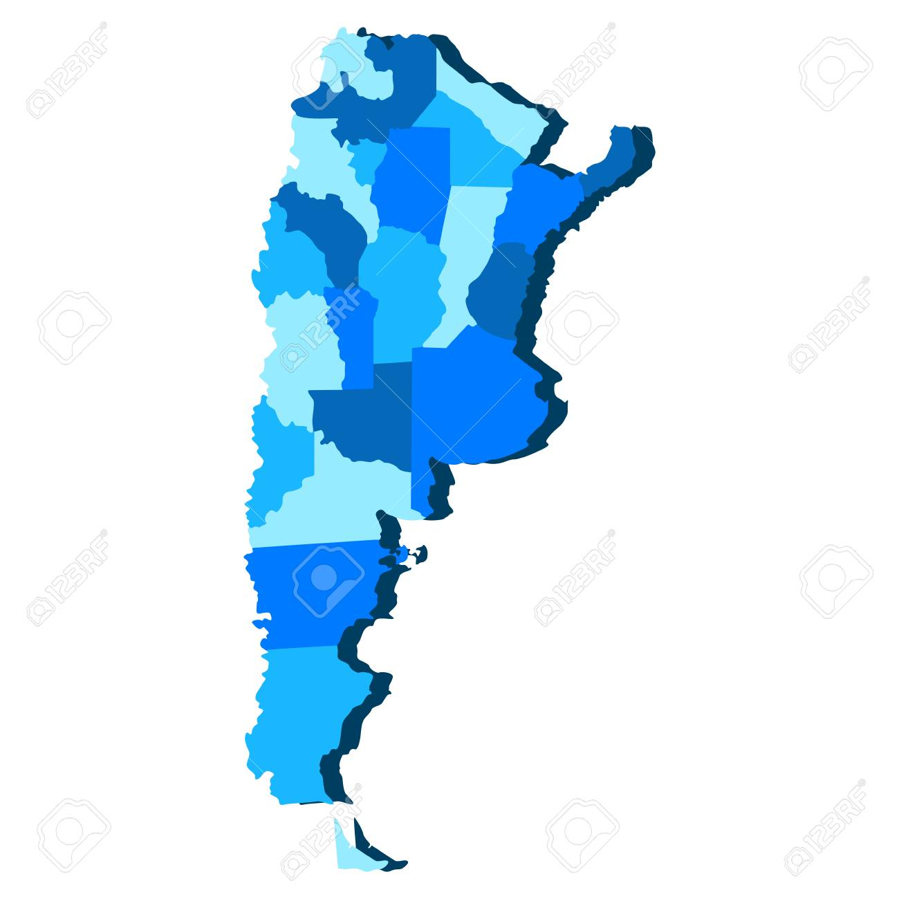 Political Map Of Argentina Vector Illustration Design Royalty Free