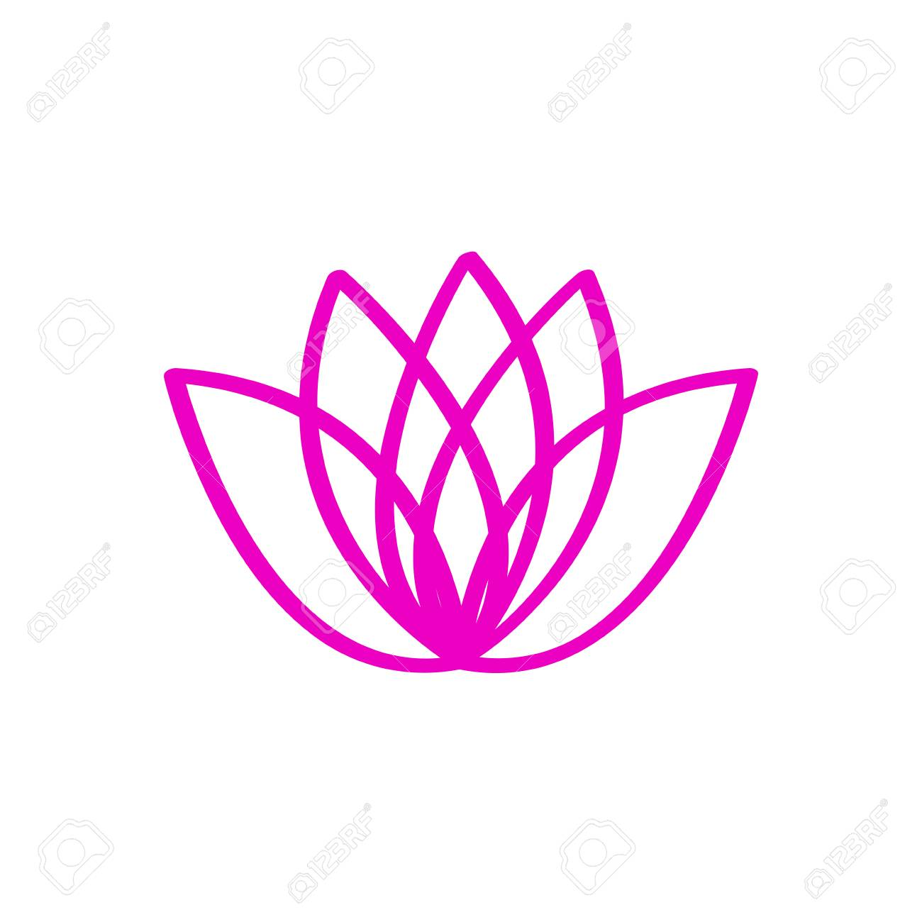 Outline Of A Lotus Flower Royalty Free Cliparts Vectors And Stock