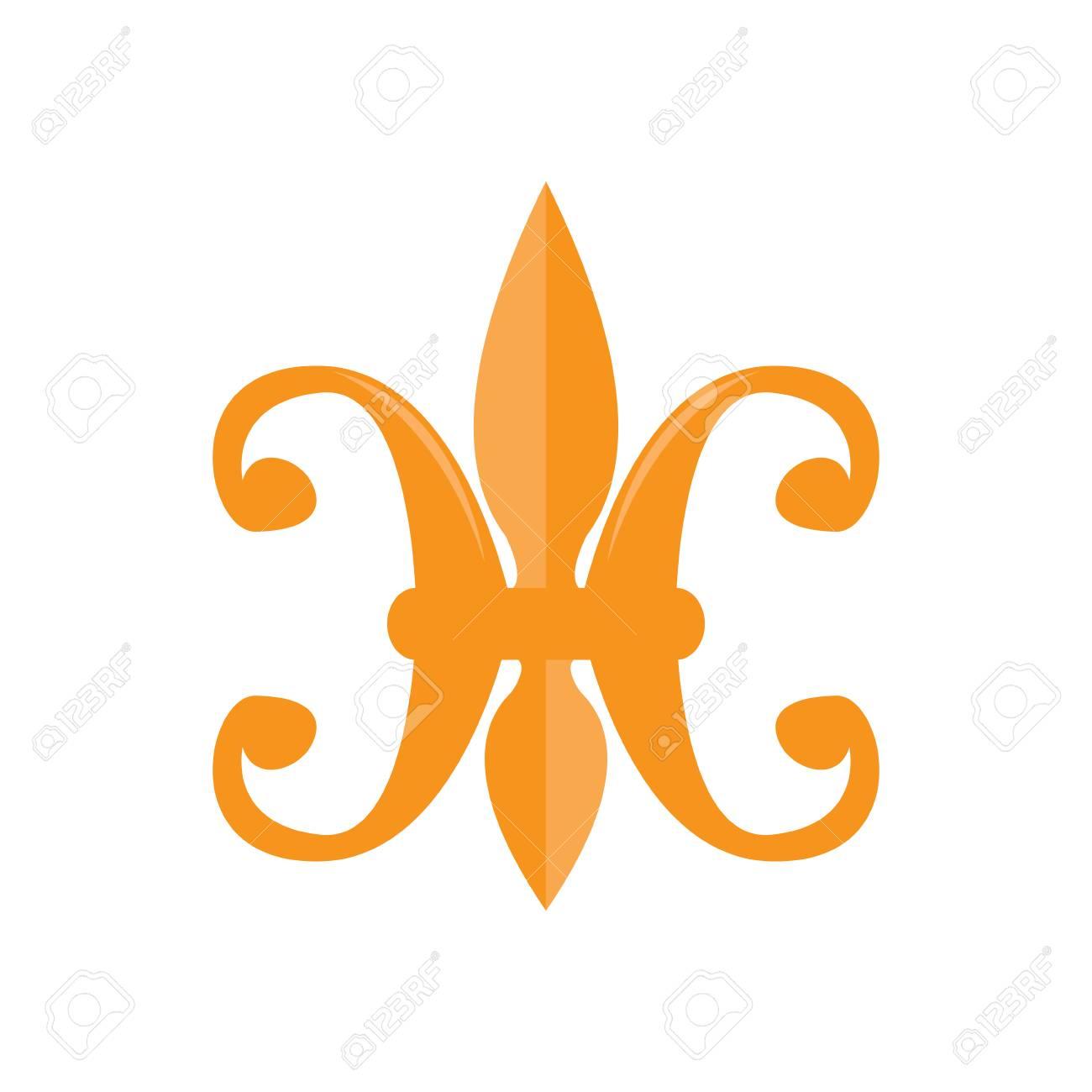 Fleur Illustration mardi gras symbol. fleur de lys. vector illustration design royalty