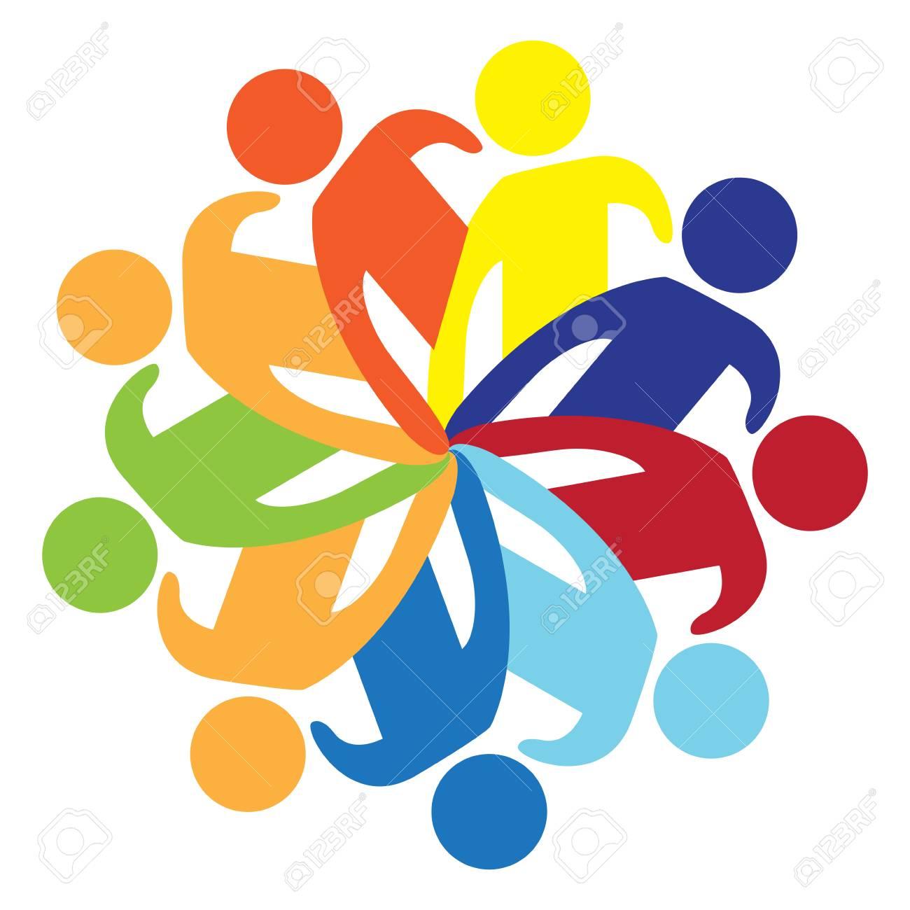 Isolated teamwork icon image. Vector illustration design - 124889726