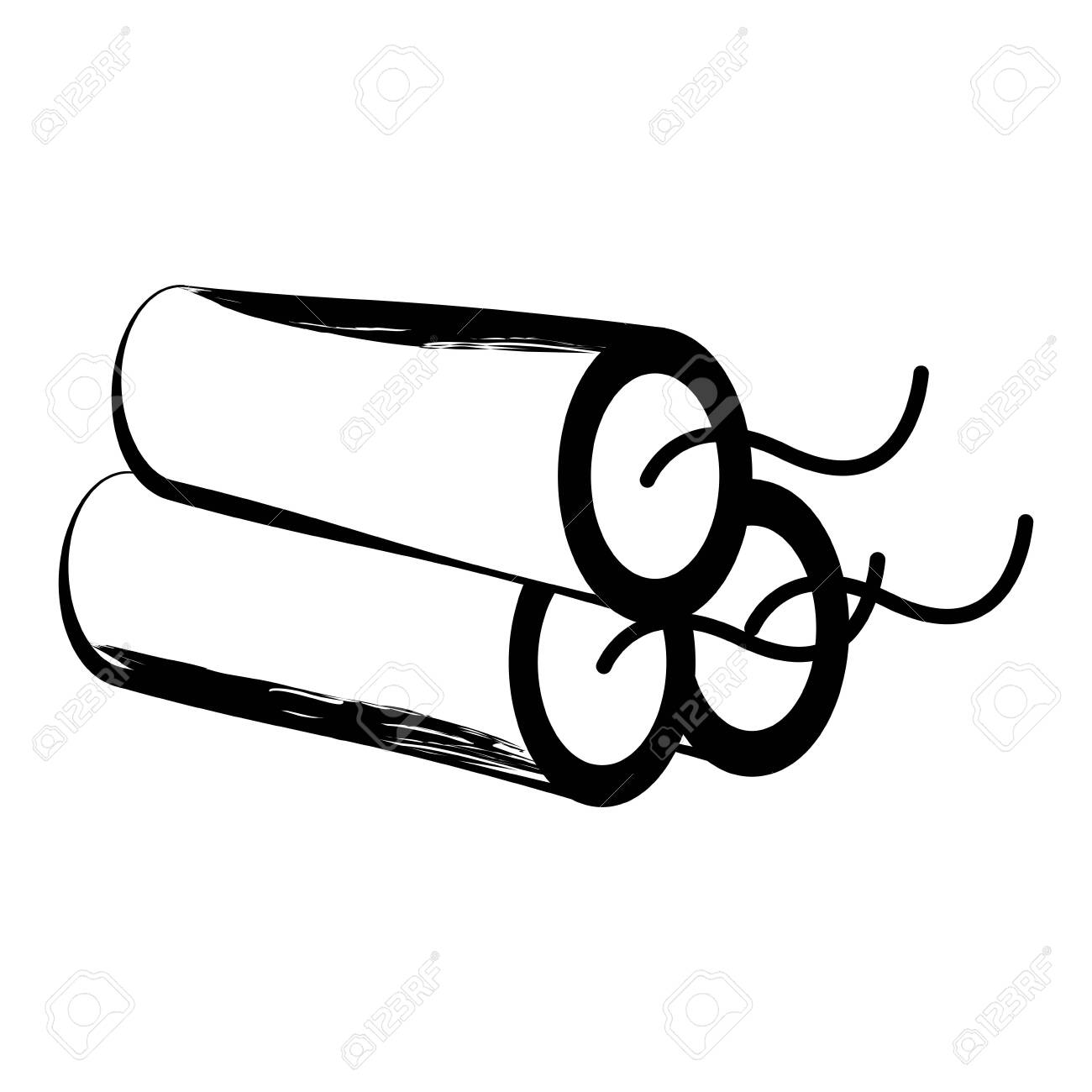 Isolated sketch of a dynamite. Vector illustration design - 124440097