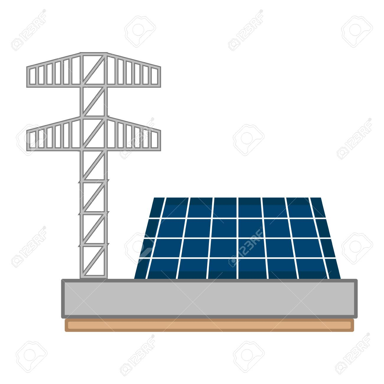 Solar Power Plant Image Vector Illustration Design Royalty Free Cliparts Vectors And Stock Illustration Image 124064574