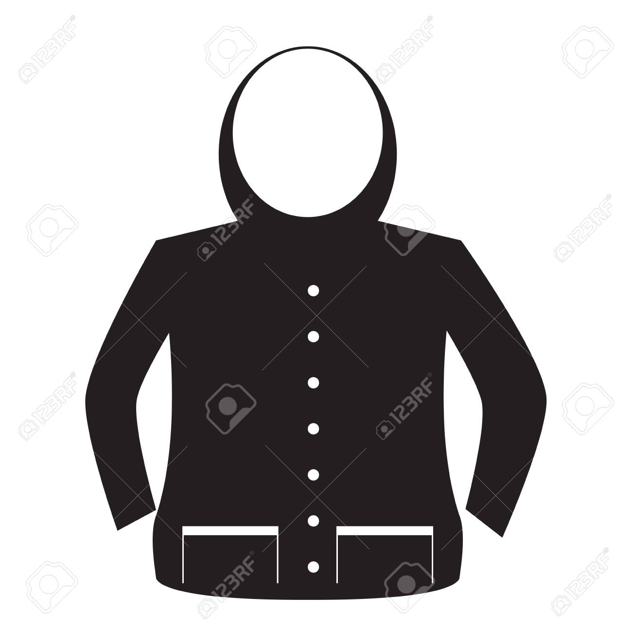 Isolated jacket image. Winter clothes icon - Vector - 138569184