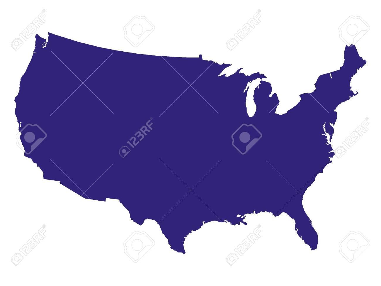 Purple USA Map - 131427310