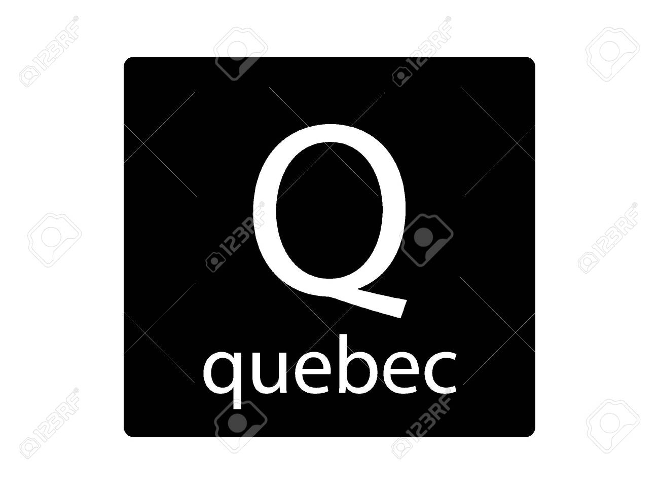 Army Phonetic Alphabet Letter Quebec Royalty Free Cliparts Vectors And Stock Illustration Image 133346013