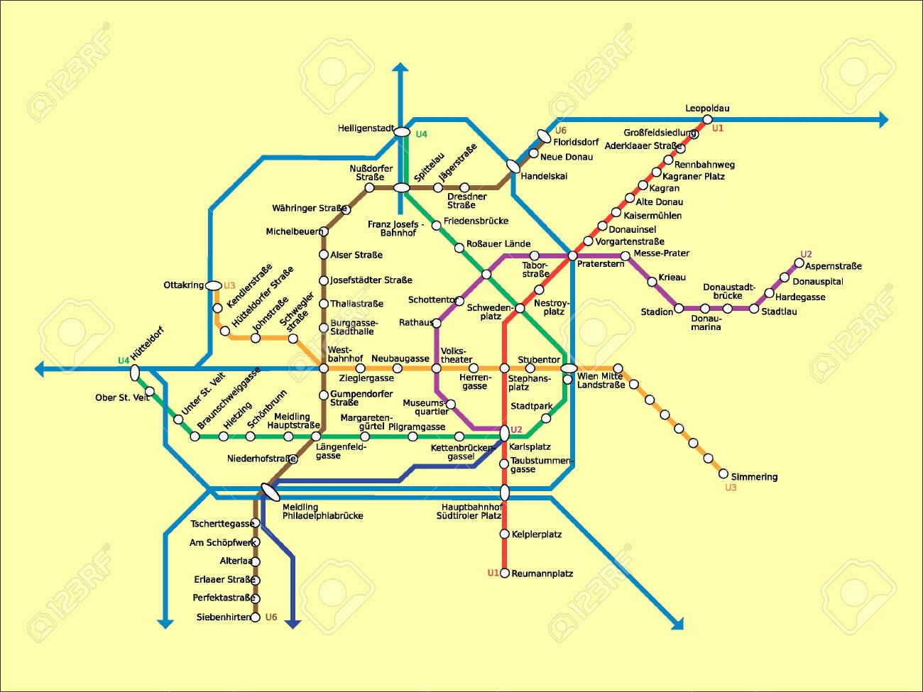 vienna detailed subway metro stations diagram map with labels royalty free  cliparts, vectors, and stock illustration. image 135458885.  123rf.com