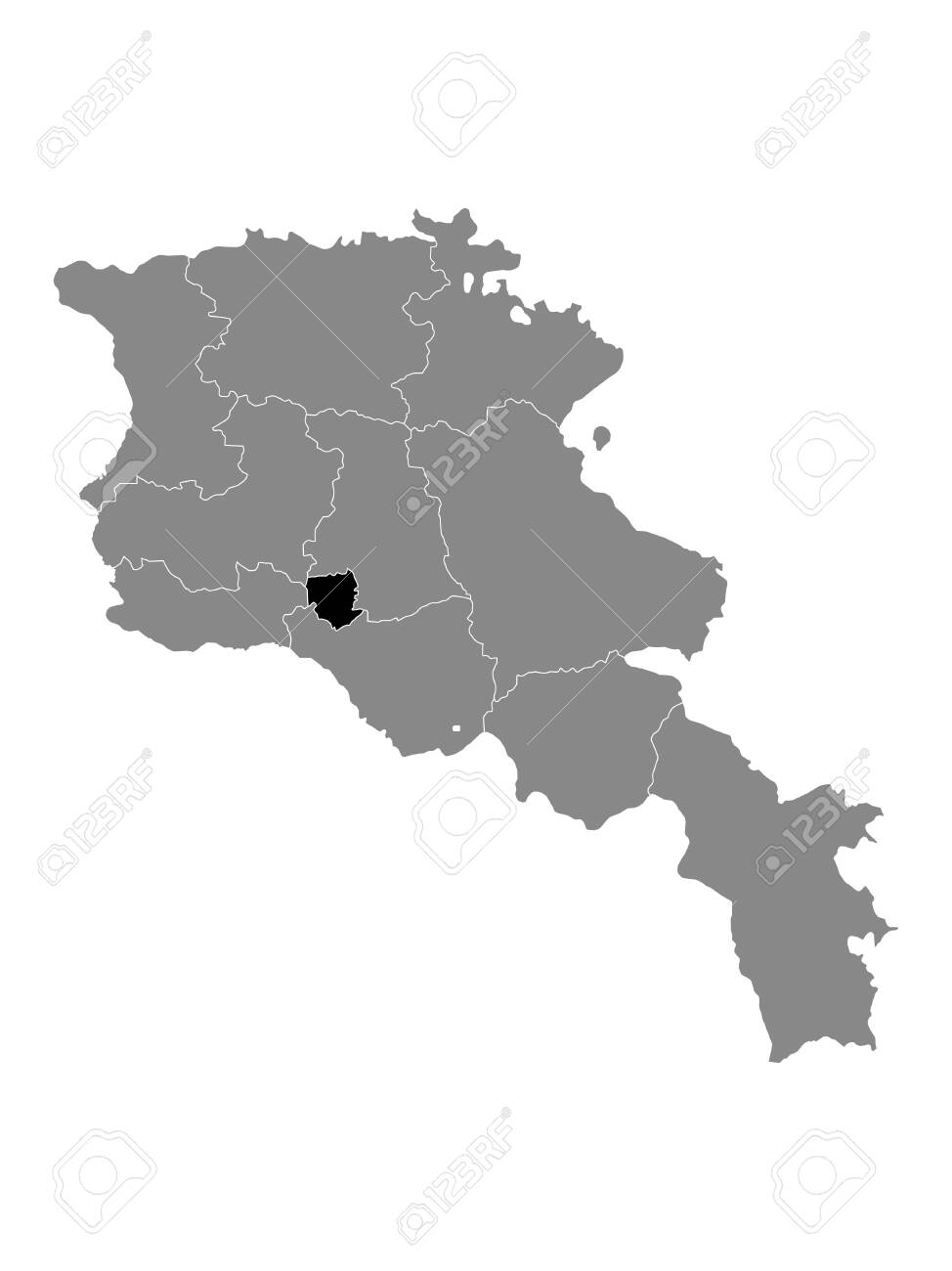 Picture of: Black Location Map Of Armenian Province Of Yerevan Within Grey Royalty Free Cliparts Vectors And Stock Illustration Image 144747008