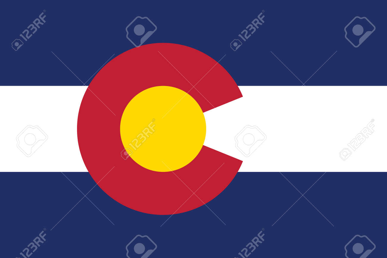 Official current vector flag of the Federal State of Colorado, USA - 169913239