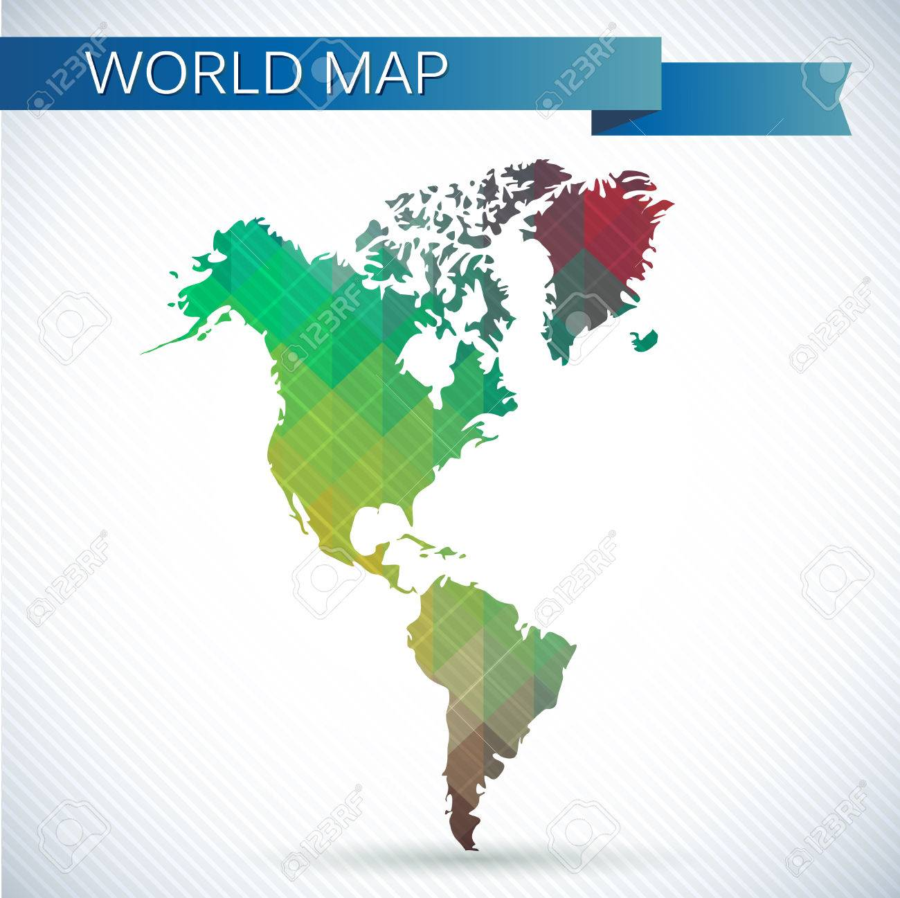 Western hemisphere globe bright vector map of the world north vector western hemisphere globe bright vector map of the world north america south america and greenland gumiabroncs