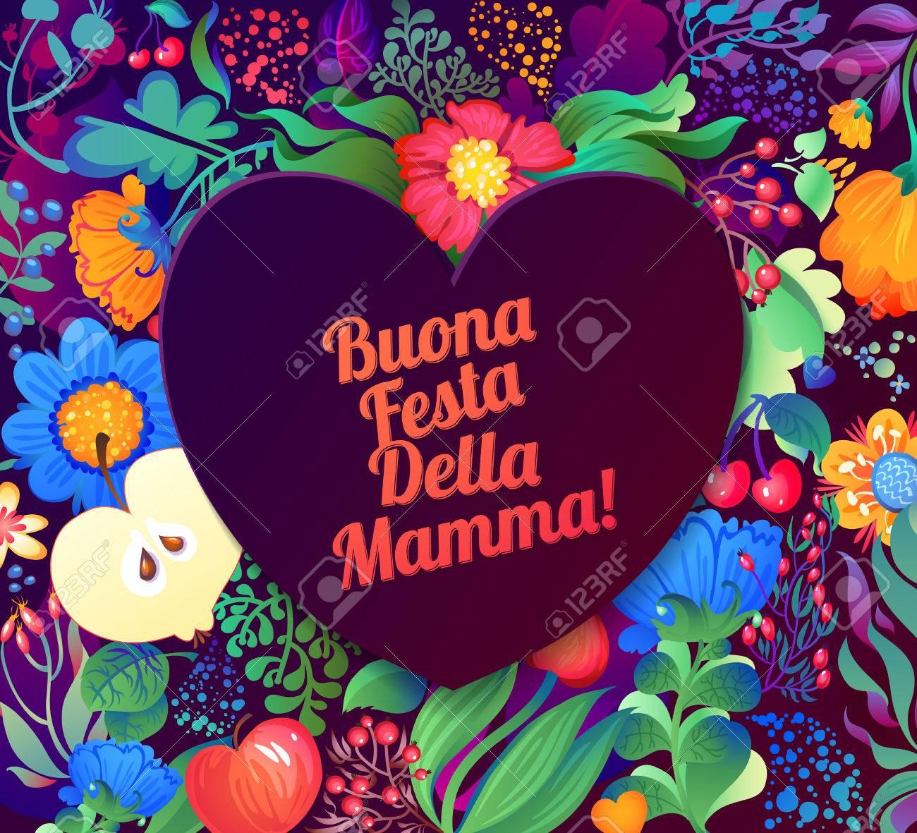 Carte Bonne Fete En Italien.Bonne Fete Des Meres Cartes De Voeux Inscription Italien Clip Art