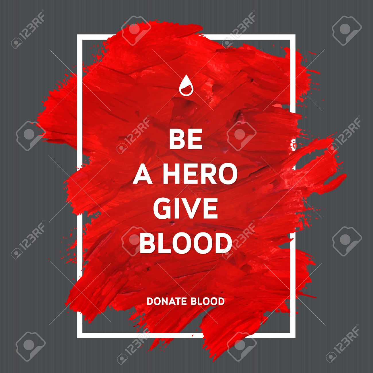 Creative Donate blood motivation information donor poster. Blood Donation. World Blood Donor Day banner. Red stroke and text. Medical design elements. Grunge texture. - 40912183