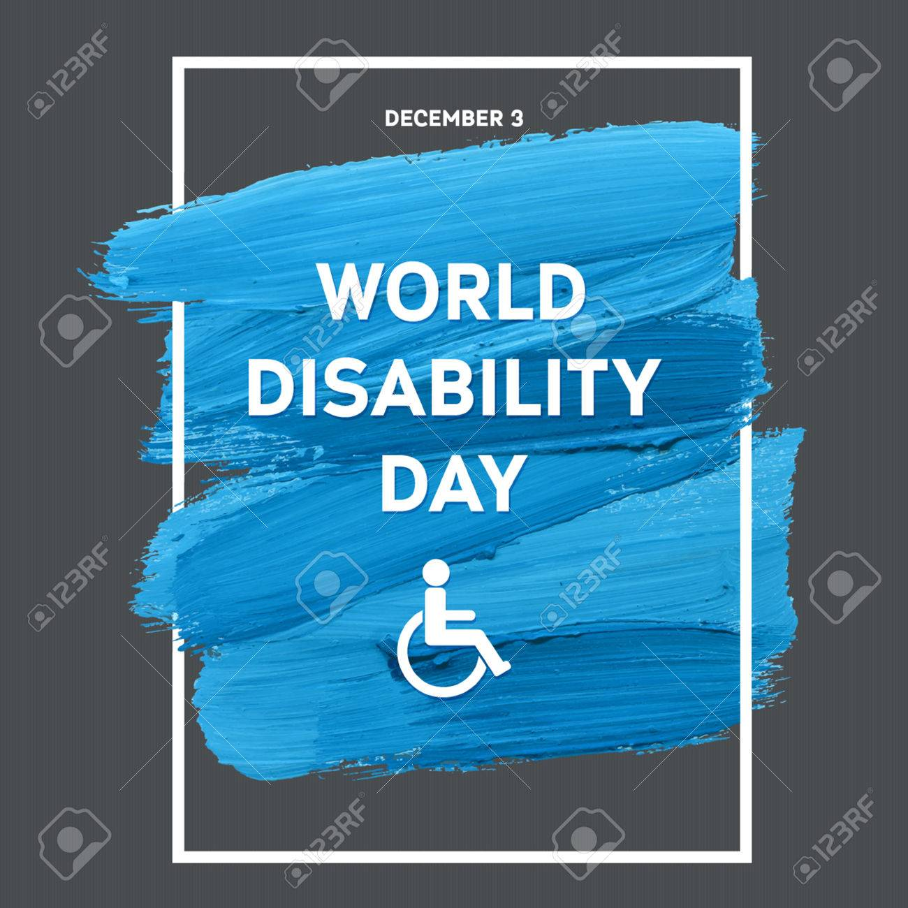 World Disability Day Typography Watercolor Brush Stroke Design