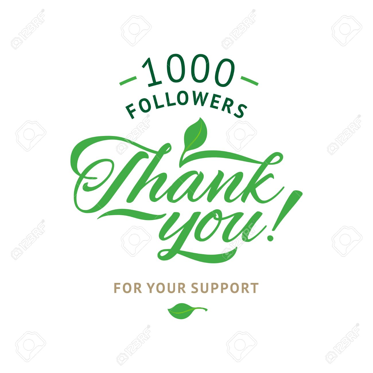 Thank you 1000 followers card vector ecology design template thank you 1000 followers card vector ecology design template for network friends and followers spiritdancerdesigns Images