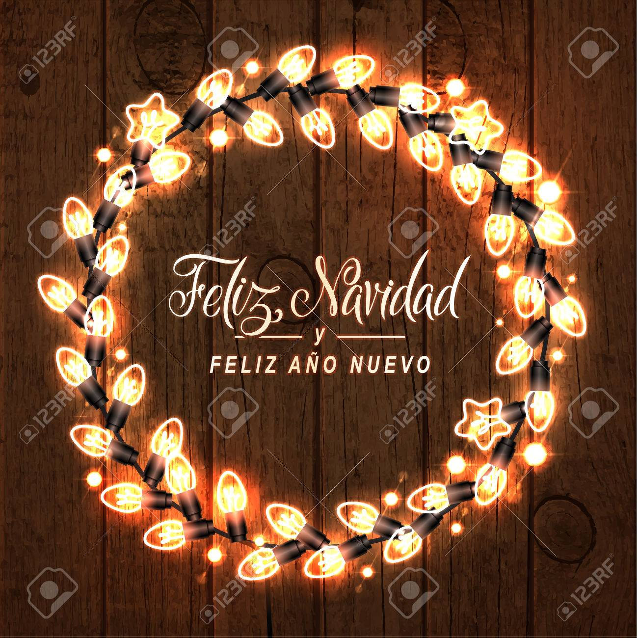 source merry christmas and happy new year spanish language glowing - How Do You Say Merry Christmas In Spanish
