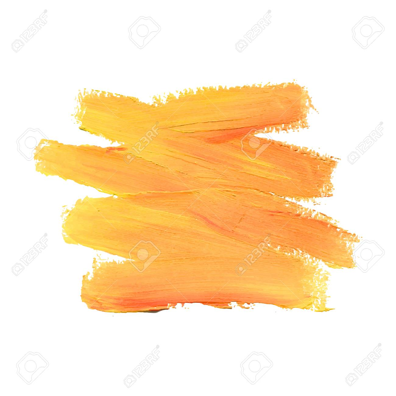 Coup De Pinceau Peinture Acrylique Tache Peach Couleur Coup De